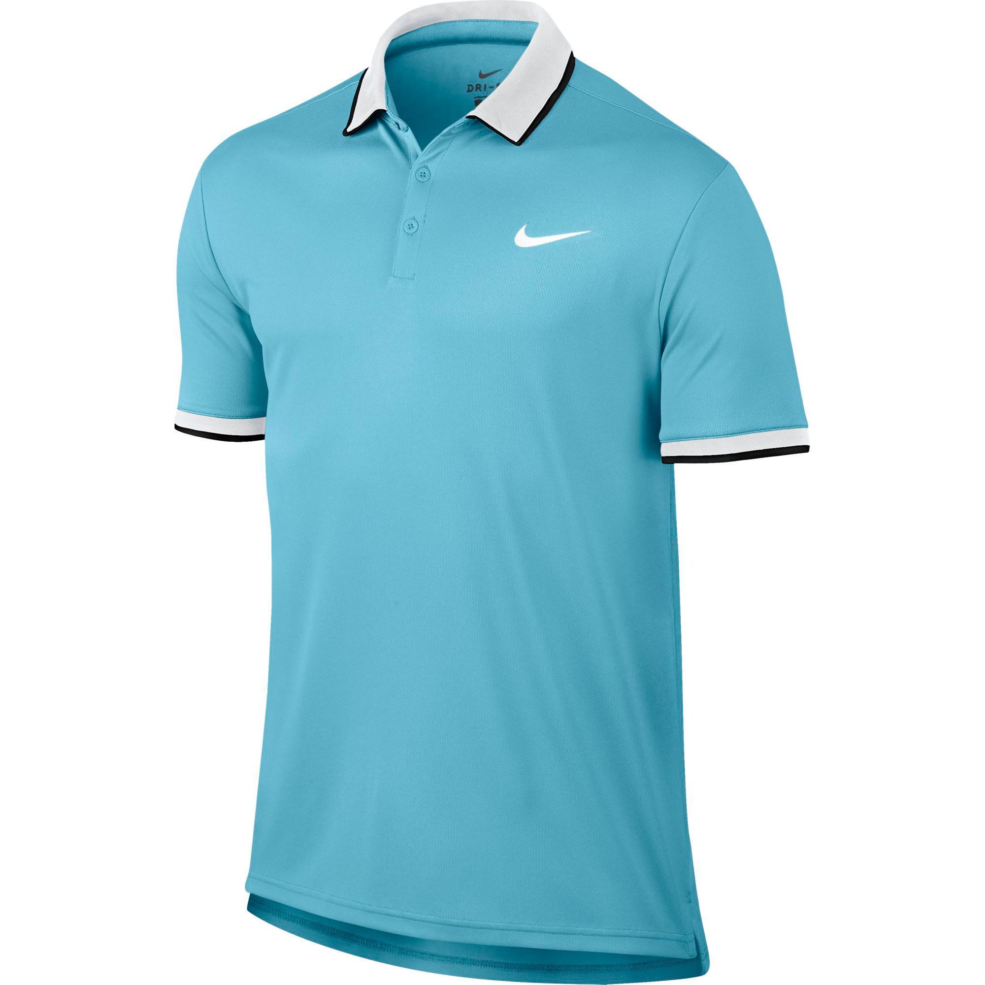 17167f93 Nike Mens Dry Tennis Polo - Vivid Sky Blue - Tennisnuts.com