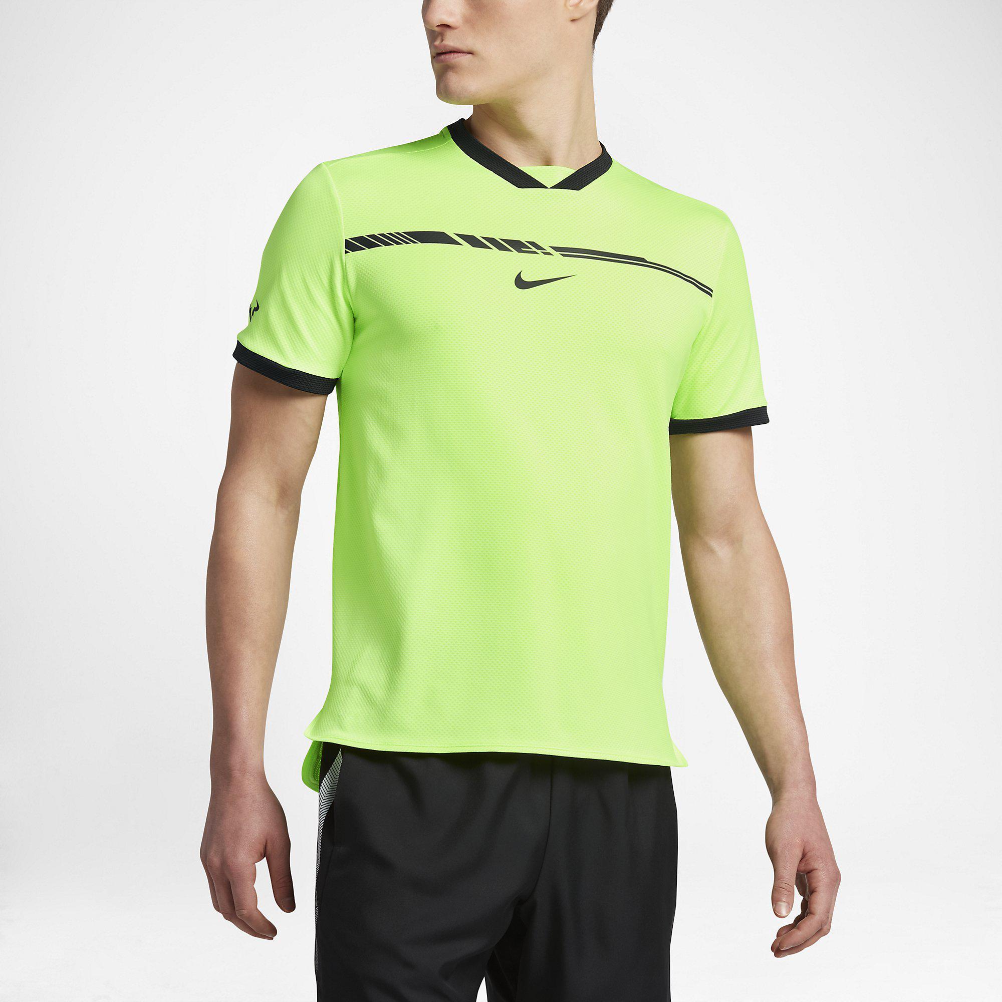 Nike Mens AeroReact Rafa Challenger Top - Ghost Green/Black
