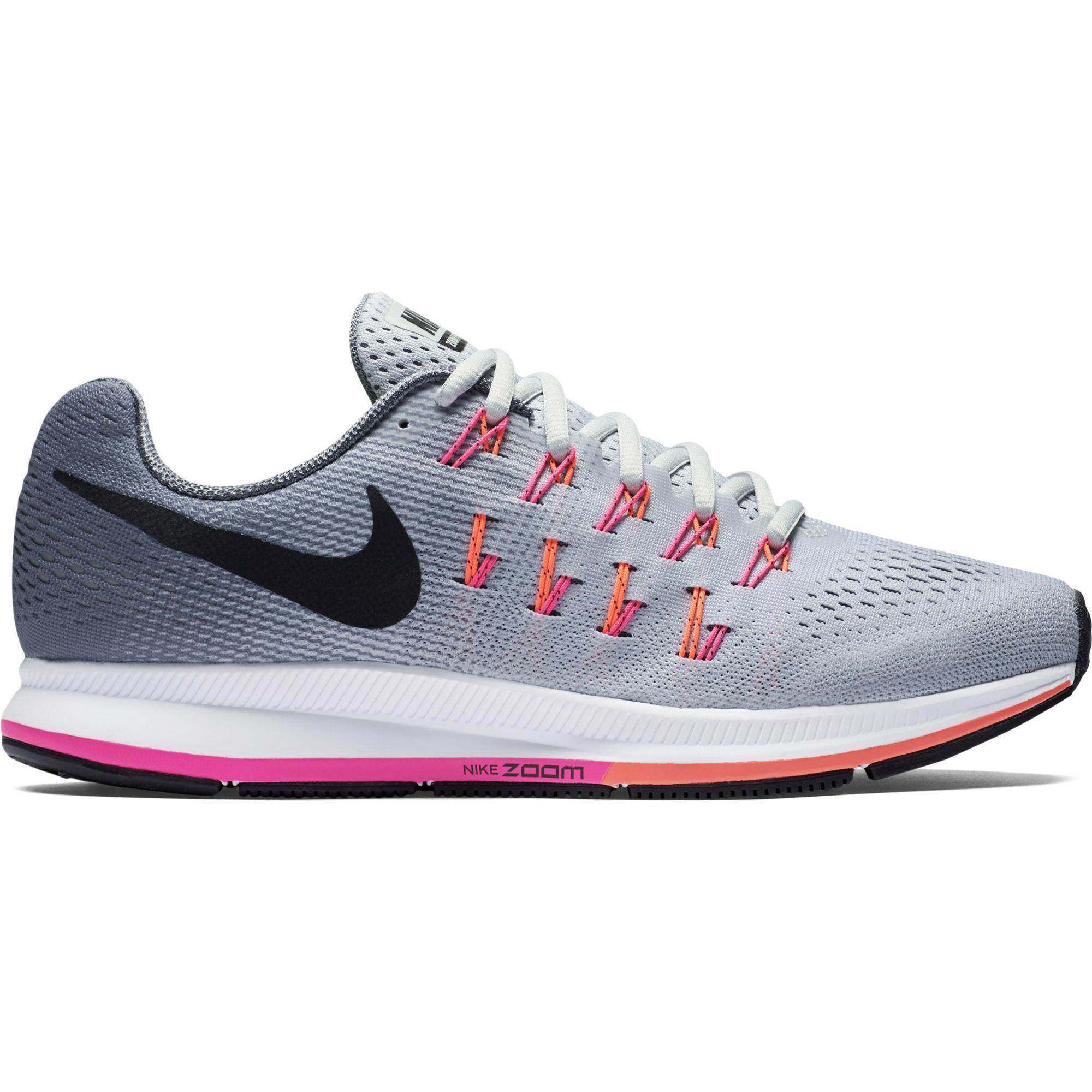 f92315092e28 Nike Womens Air Zoom Pegasus 33 Running Shoes - Grey Pink - Tennisnuts.com