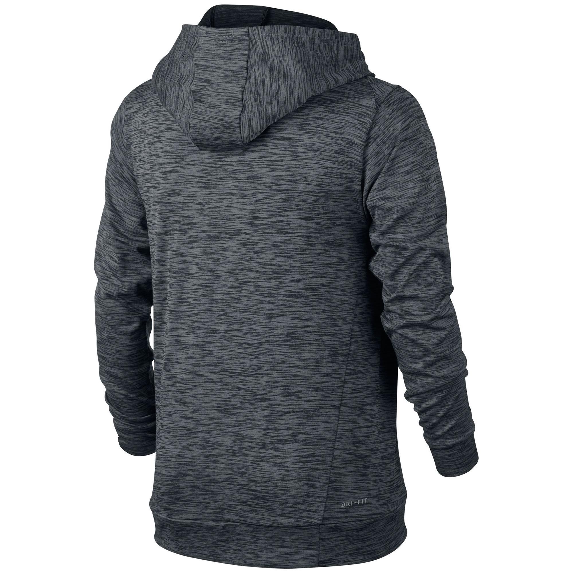 40a322c0bc9c Nike Boys Dry Training Hoodie - Black Wolf Grey - Tennisnuts.com