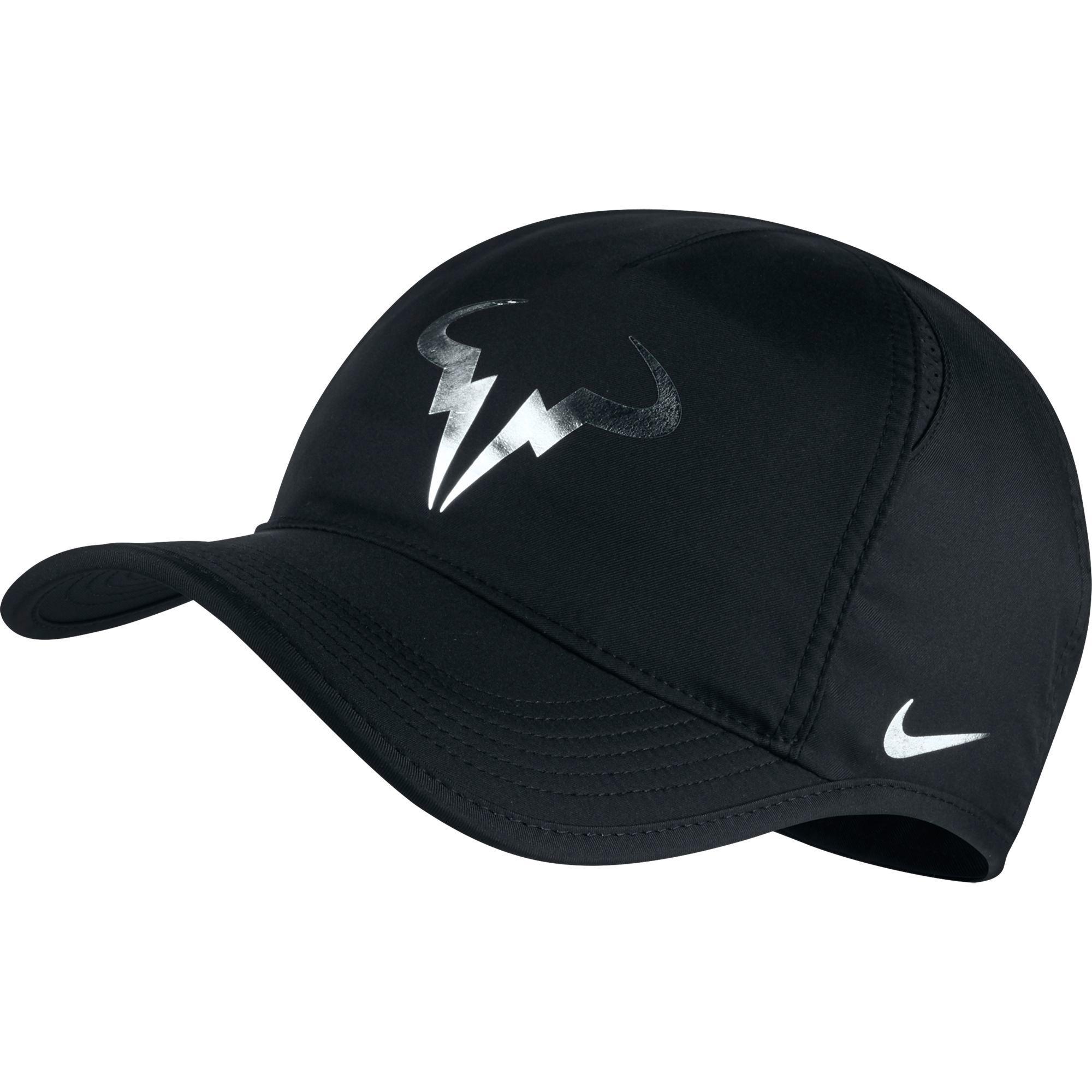 7ce1d1c0402 Nike Rafa Feather Light Adjustable Cap - Black - Tennisnuts.com