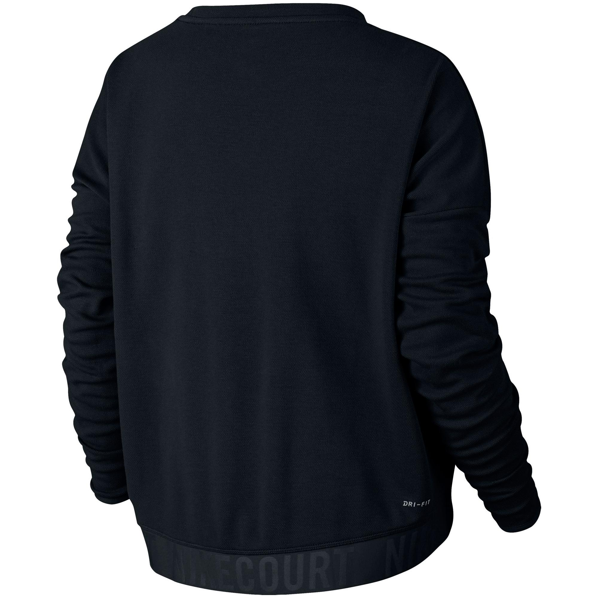 Nike Womens Long Sleeve Cropped Tennis Top Black