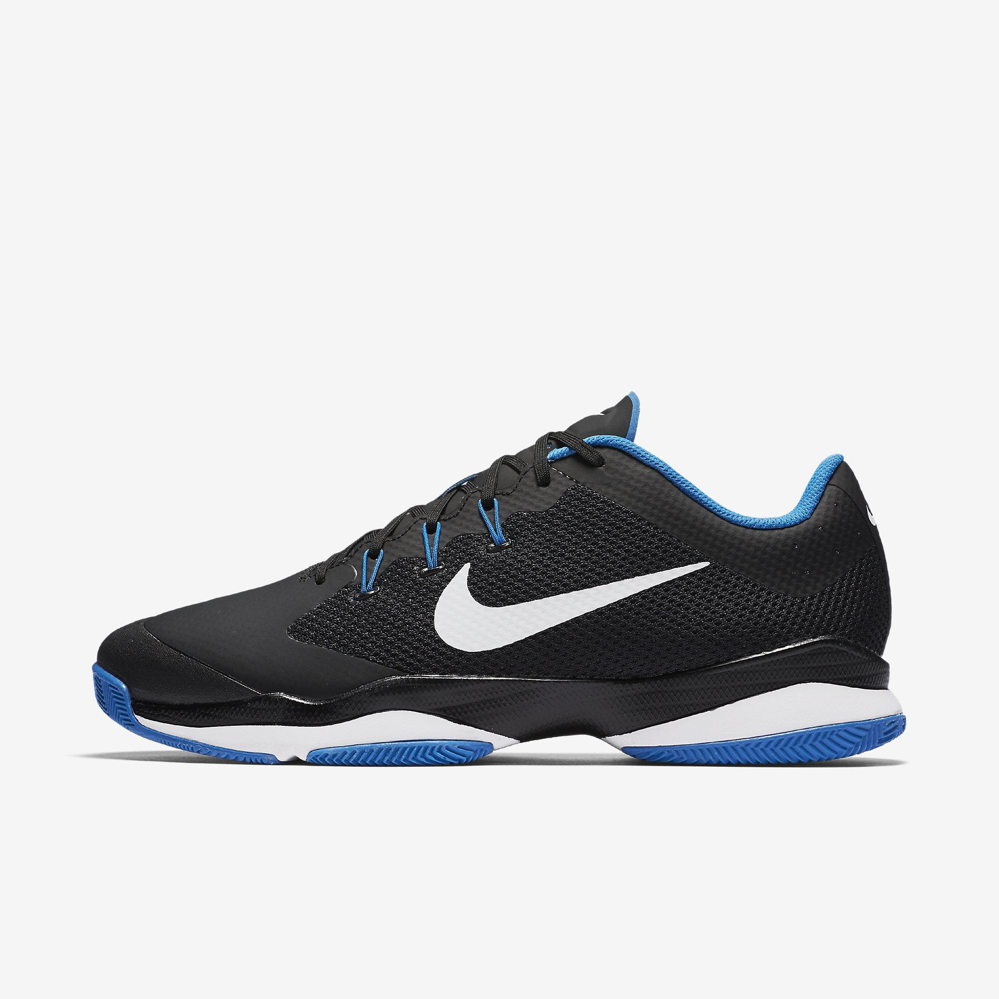 Nike Mens Air Zoom Ultra Tennis Shoes - Black/Blue ...