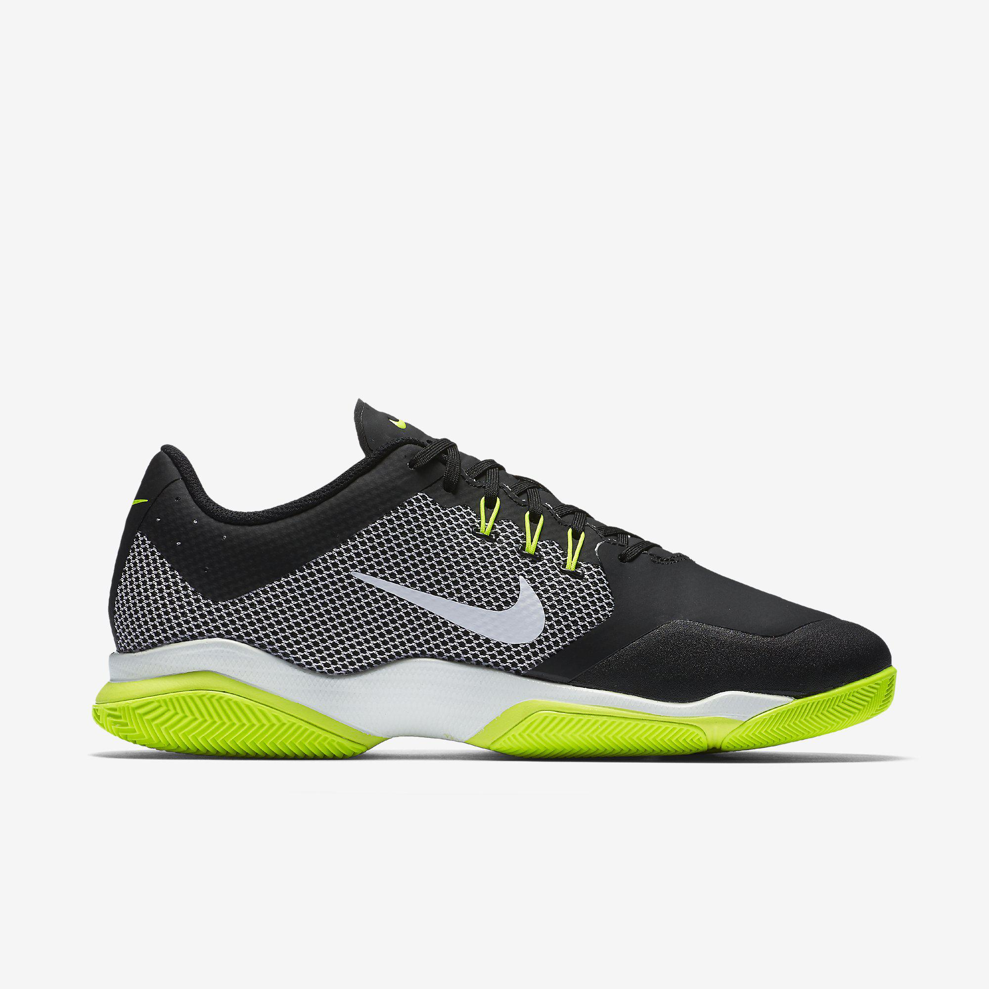 nike mens air zoom ultra tennis shoes black volt