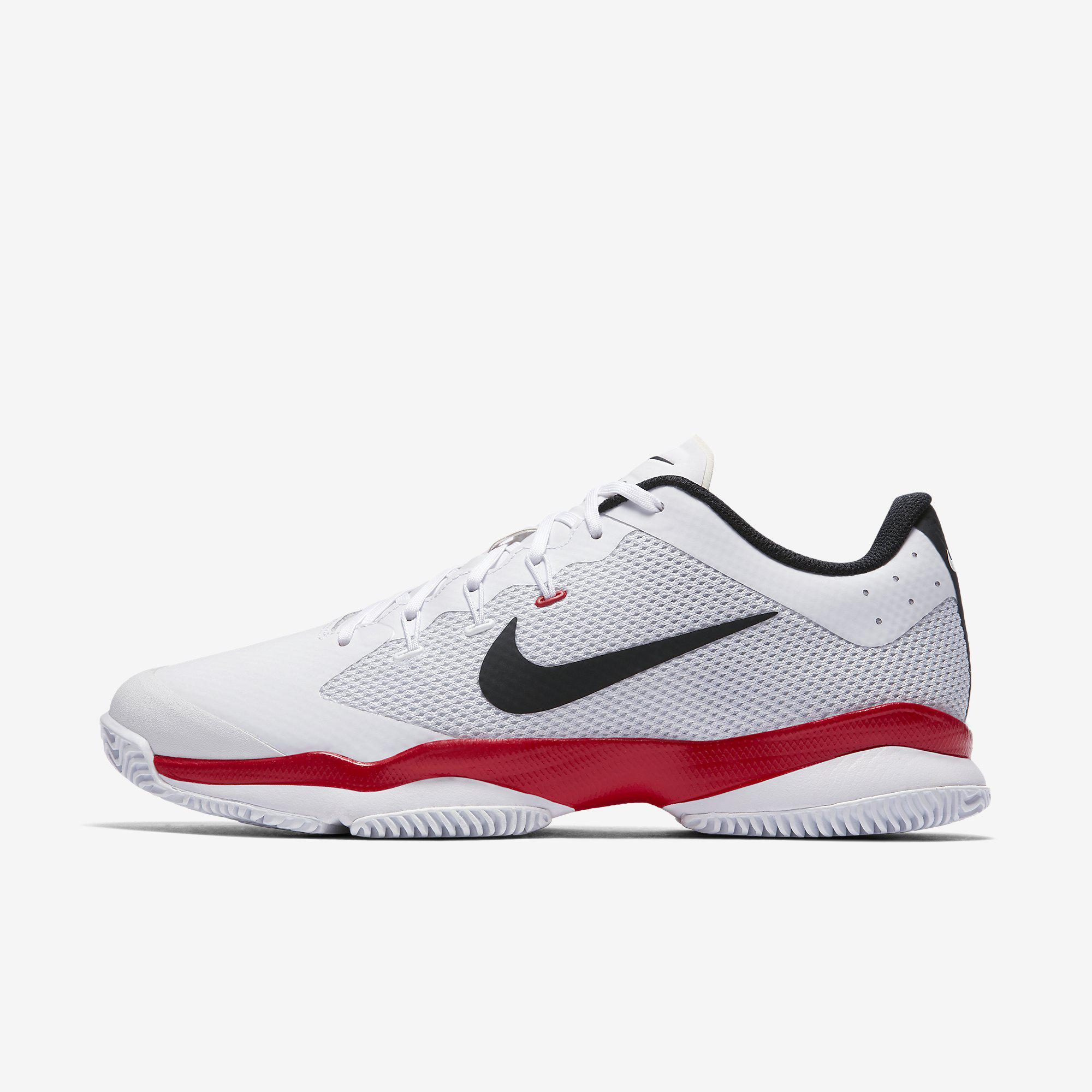 9d861f071f326 Nike Mens Air Zoom Ultra Tennis Shoes - White Red - Tennisnuts.com