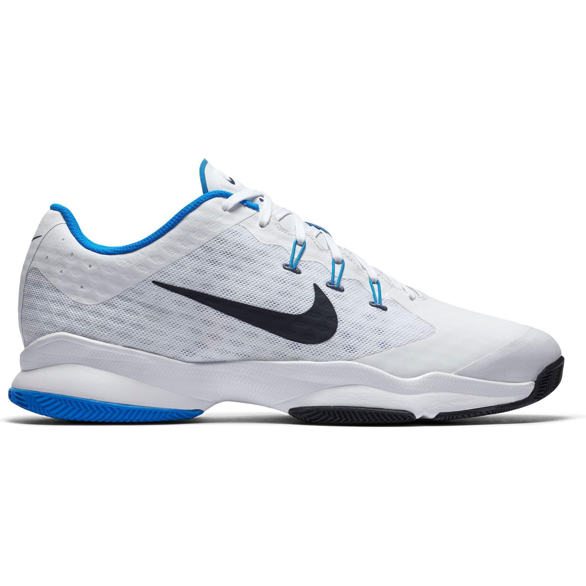 d2abb6344b0c Nike Mens Air Zoom Ultra Tennis Shoes - White Blue - Tennisnuts.com