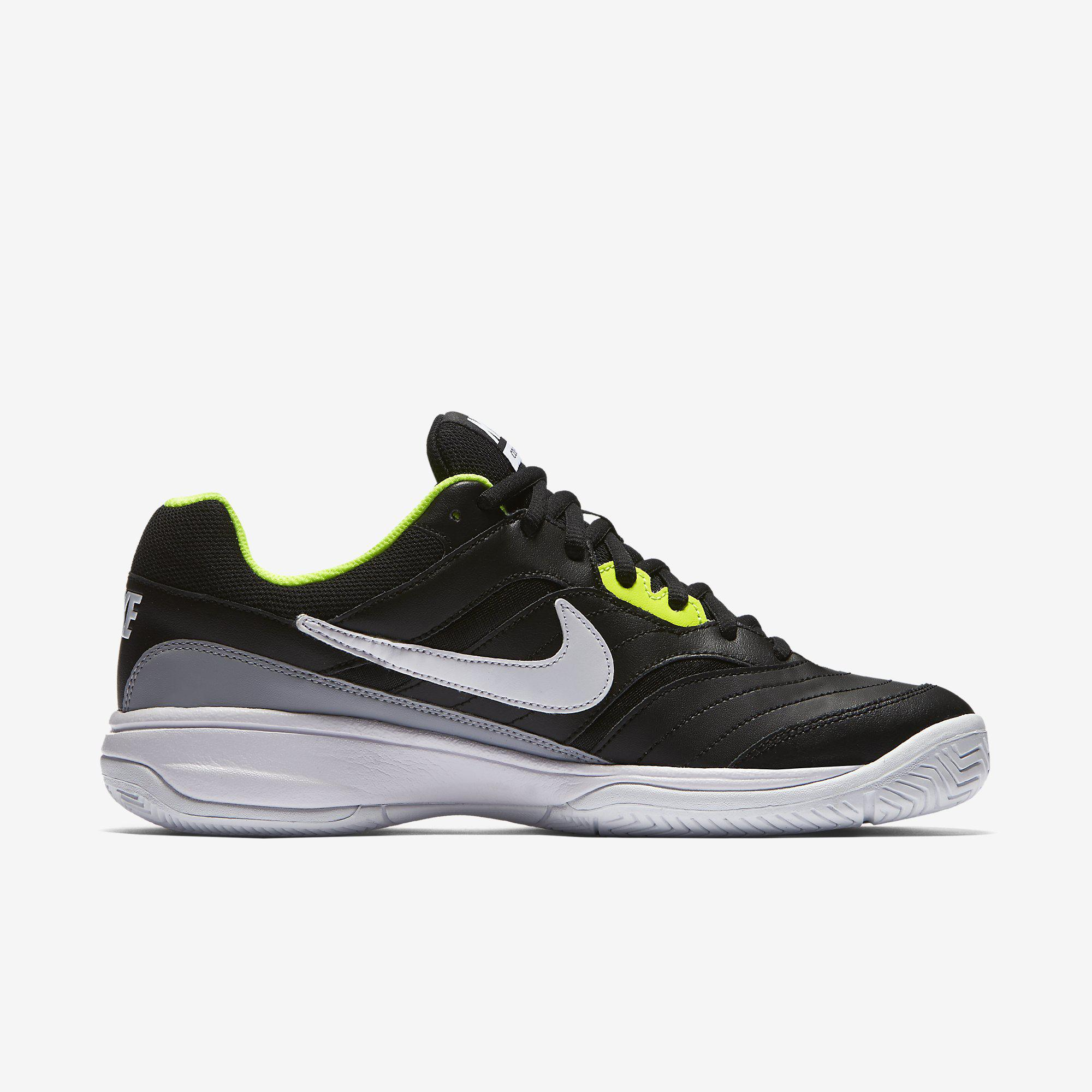 Nike Mens Court Lite Tennis Shoes - Black/Grey ...
