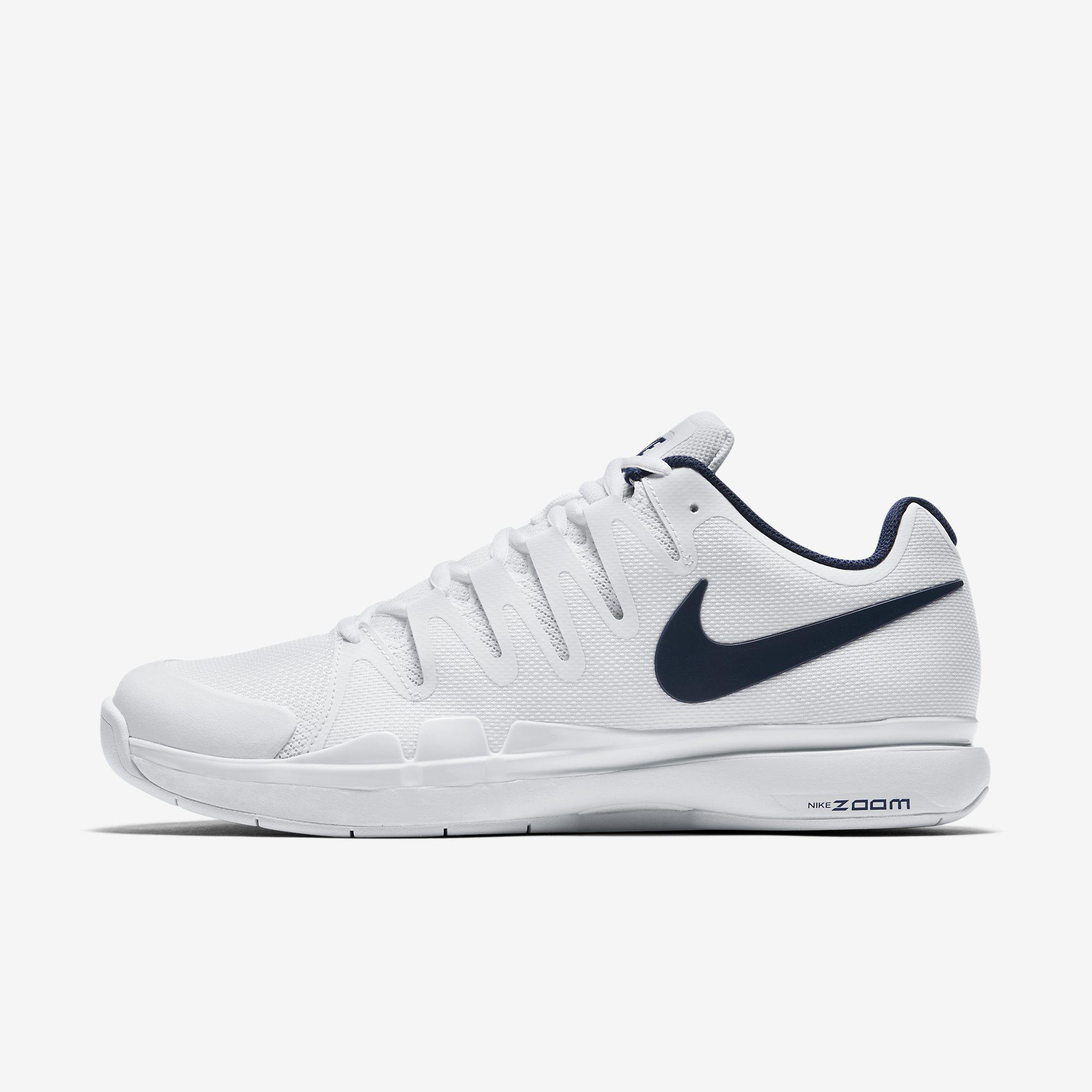 61b1cfb3a5714 Nike Mens Court Zoom Vapor 9.5 Tour Carpet Tennis Shoes - White Binary Blue  - Tennisnuts.com