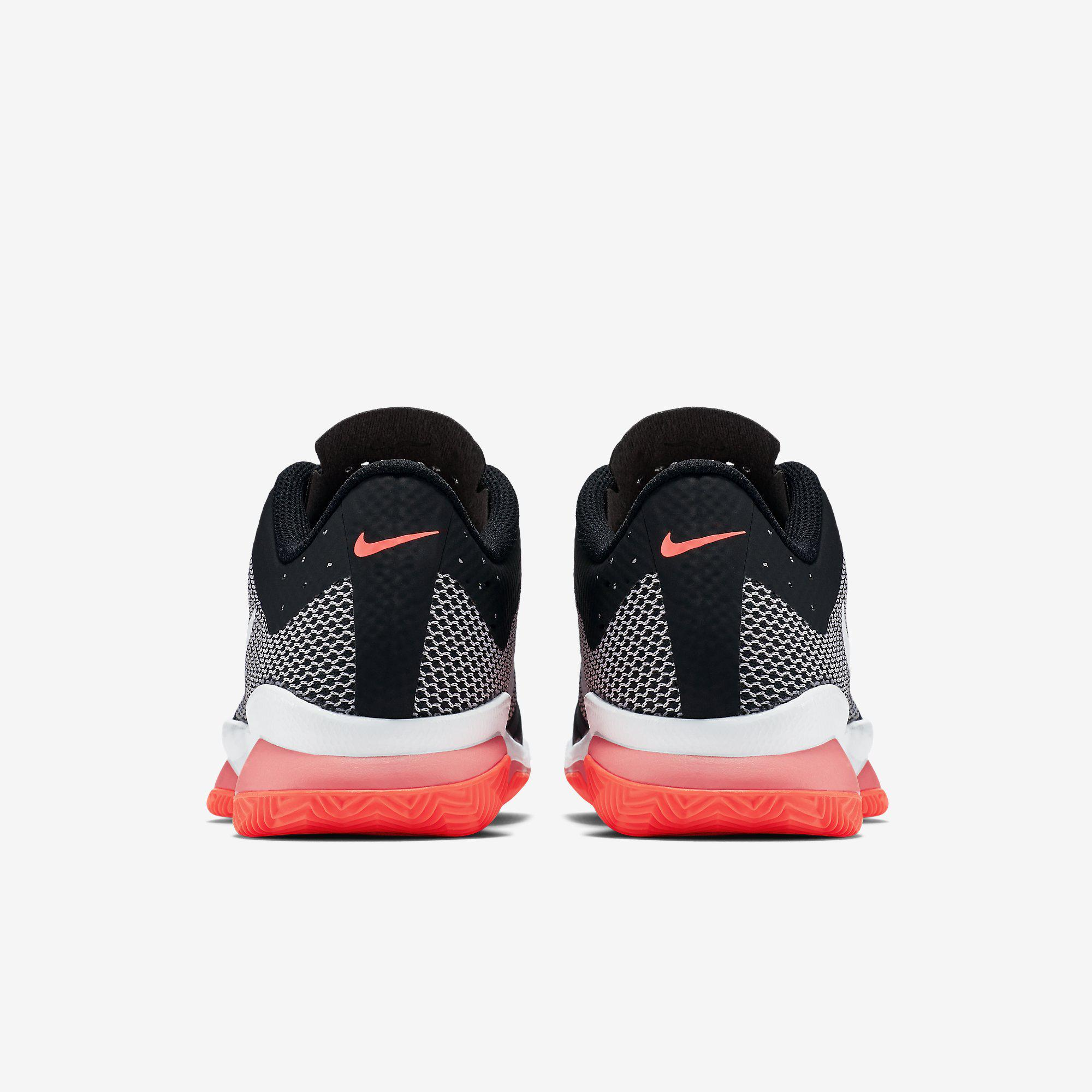 huge discount 3b666 ebd05 Nike Womens Air Zoom Ultra Clay Court Tennis Shoes - Black/White/Lava Glow