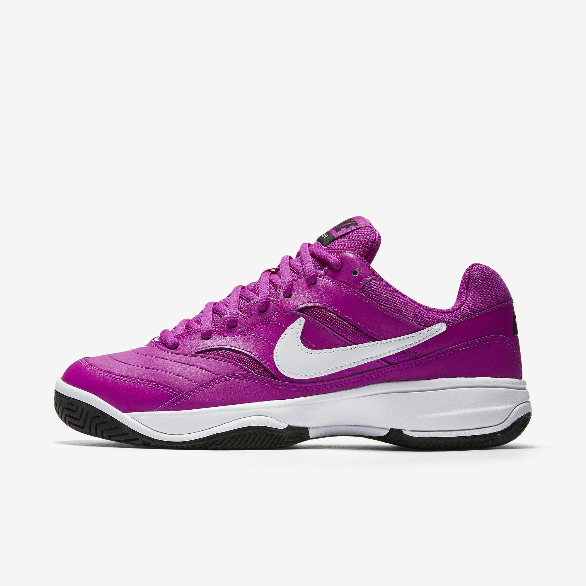 nike womens court lite tennis shoes violet black. Black Bedroom Furniture Sets. Home Design Ideas