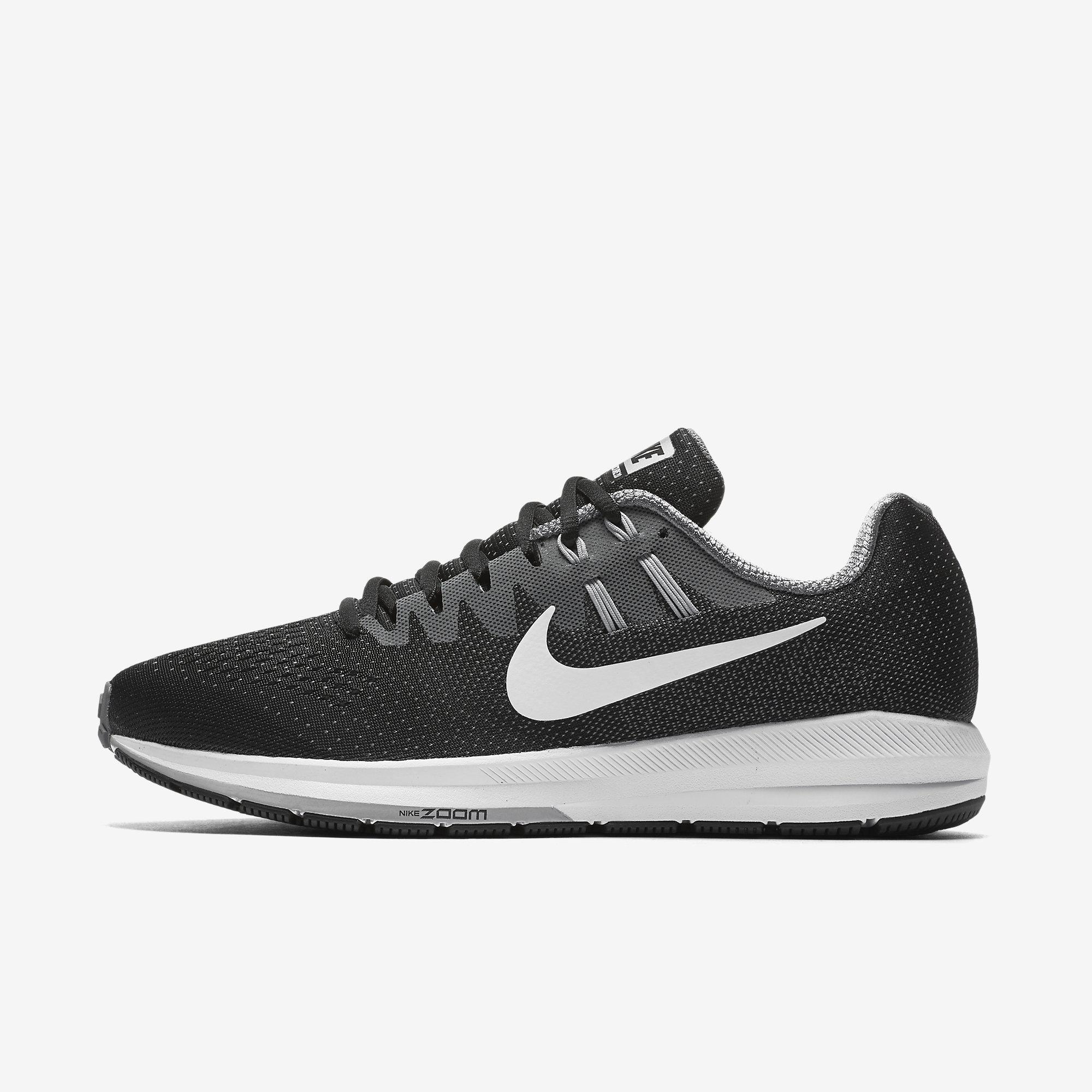 cheap for discount 11566 1299f Nike Mens Air Zoom Structure 20 Running Shoes - Black Grey - Tennisnuts.com