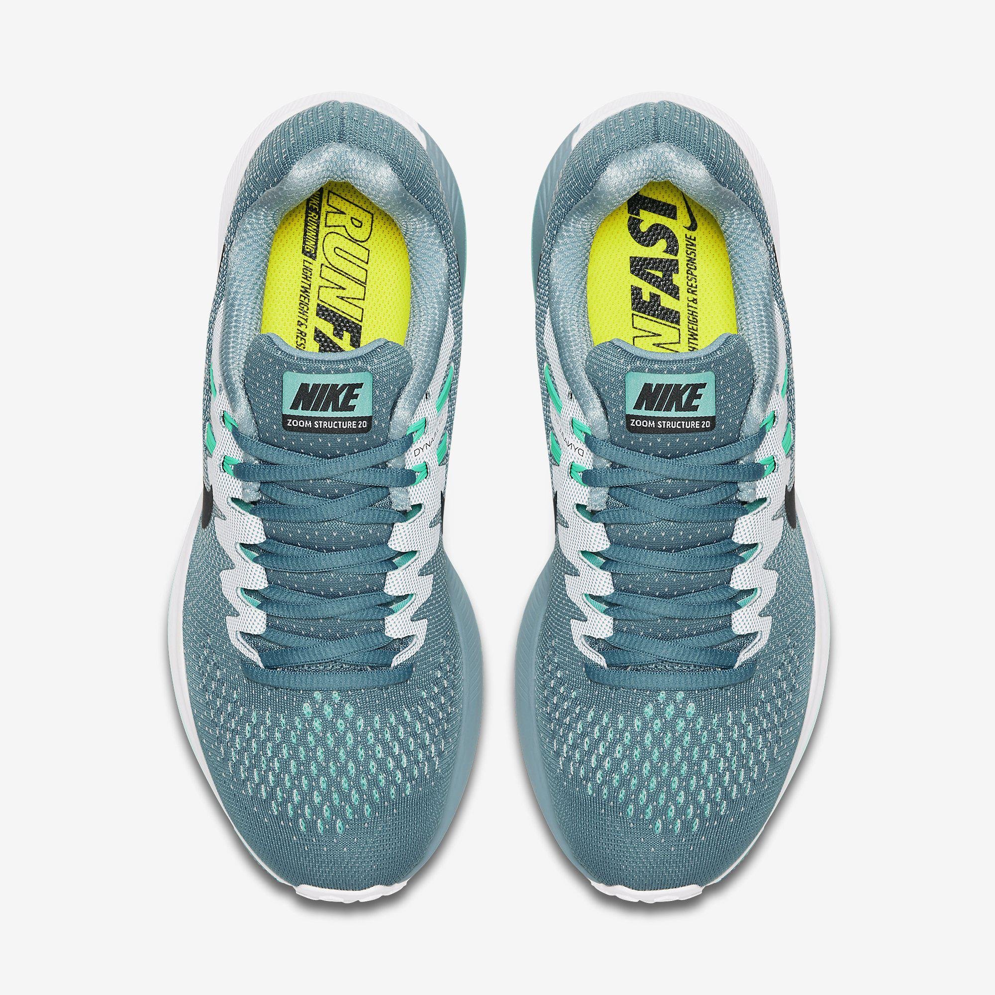 best sneakers 5a599 216d5 Nike Womens Air Zoom Structure 20 Running Shoe - Smokey Blue