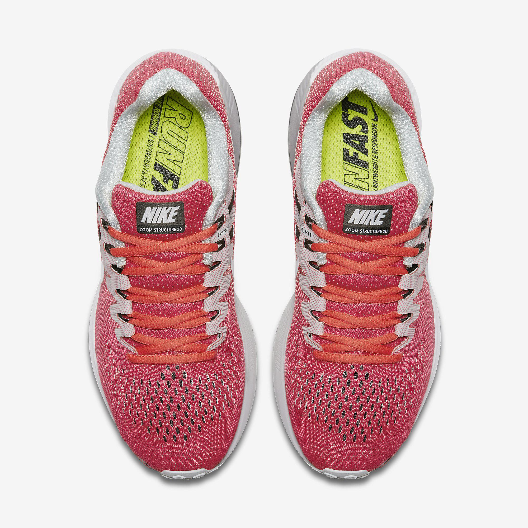 online store a4f23 1839a Nike Womens Air Zoom Structure 20 Running Shoe - Racer Pink