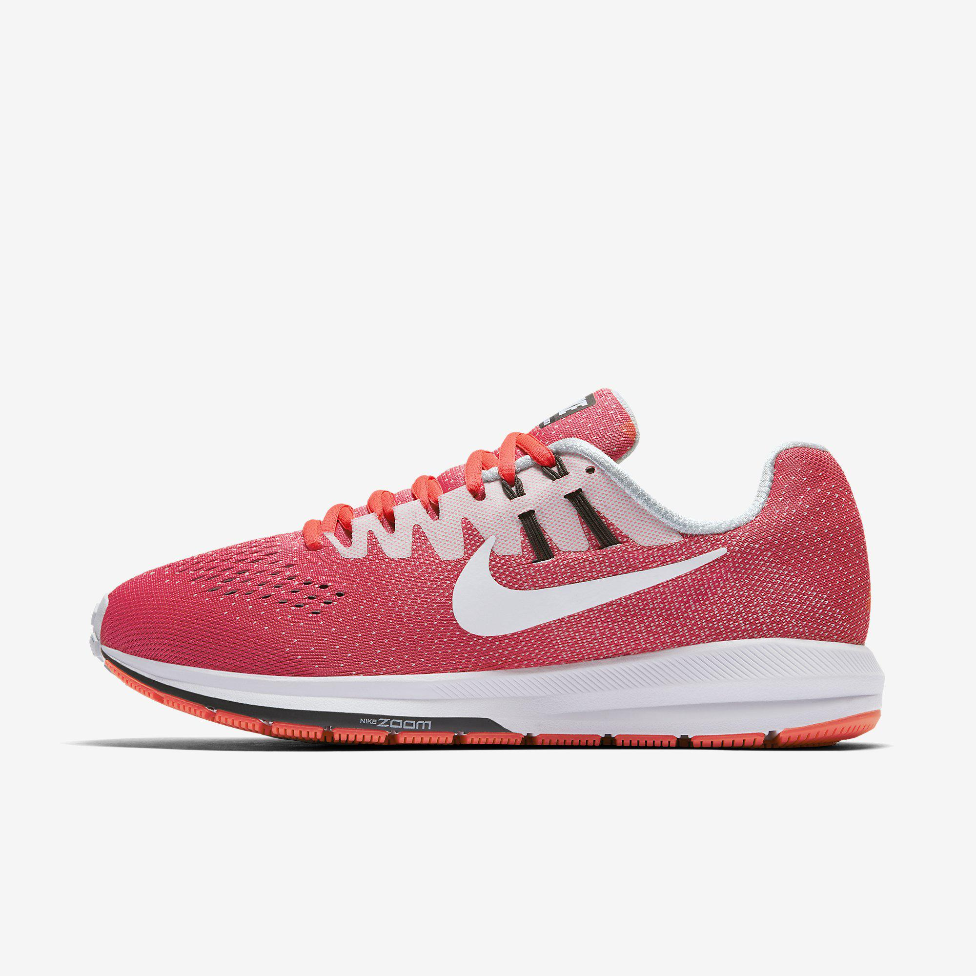 online store 72e55 c130a Nike Womens Air Zoom Structure 20 Running Shoe - Racer Pink