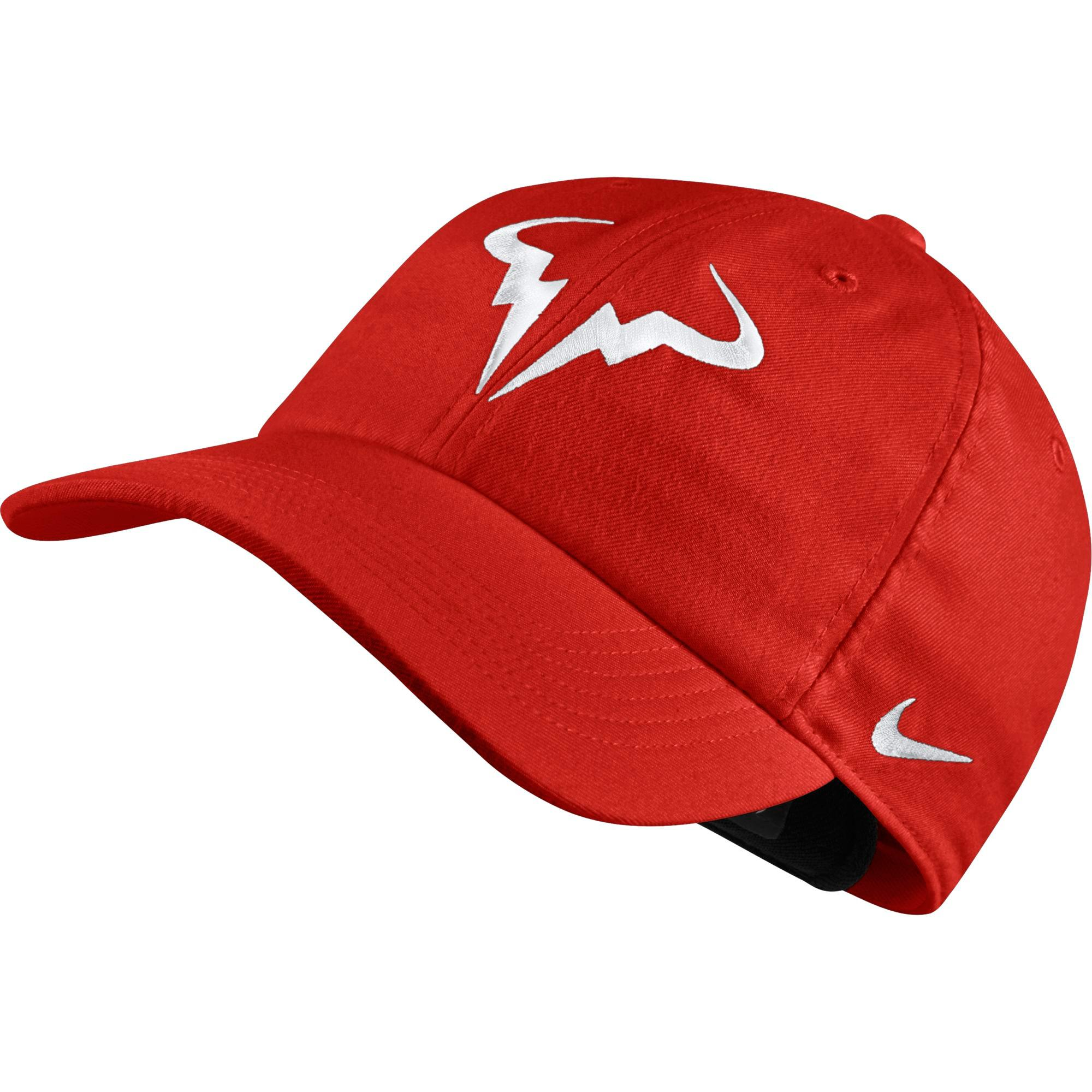 eca3f10cd1b35 Nike Rafa AeroBill H86 Adjustable Cap - Habanero Red - Tennisnuts.com