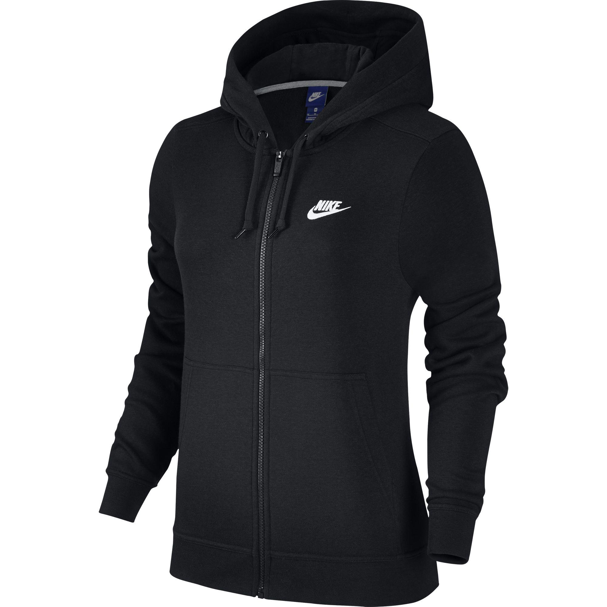 Nike Womens Sportswear Hoodie Black White Tennisnuts Com