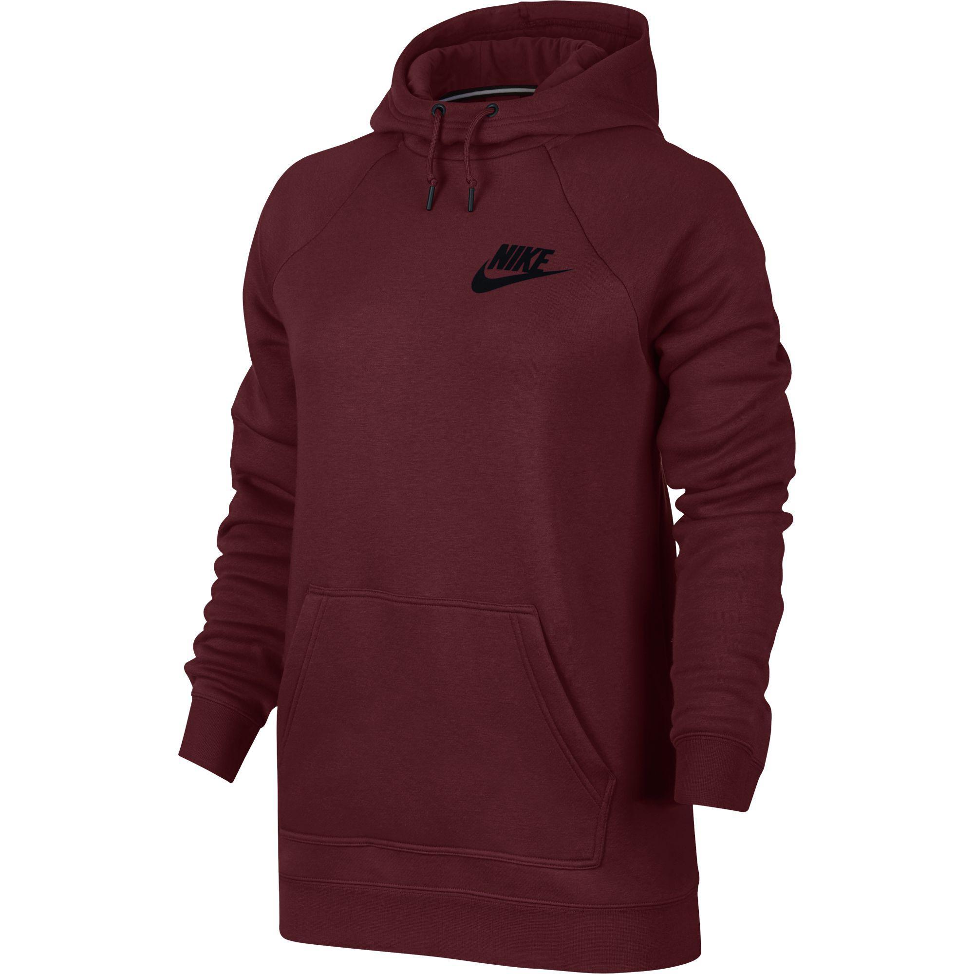 Nike Womens Sportswear Rally Hoodie - Team Red Black - Tennisnuts.com 406d96b48