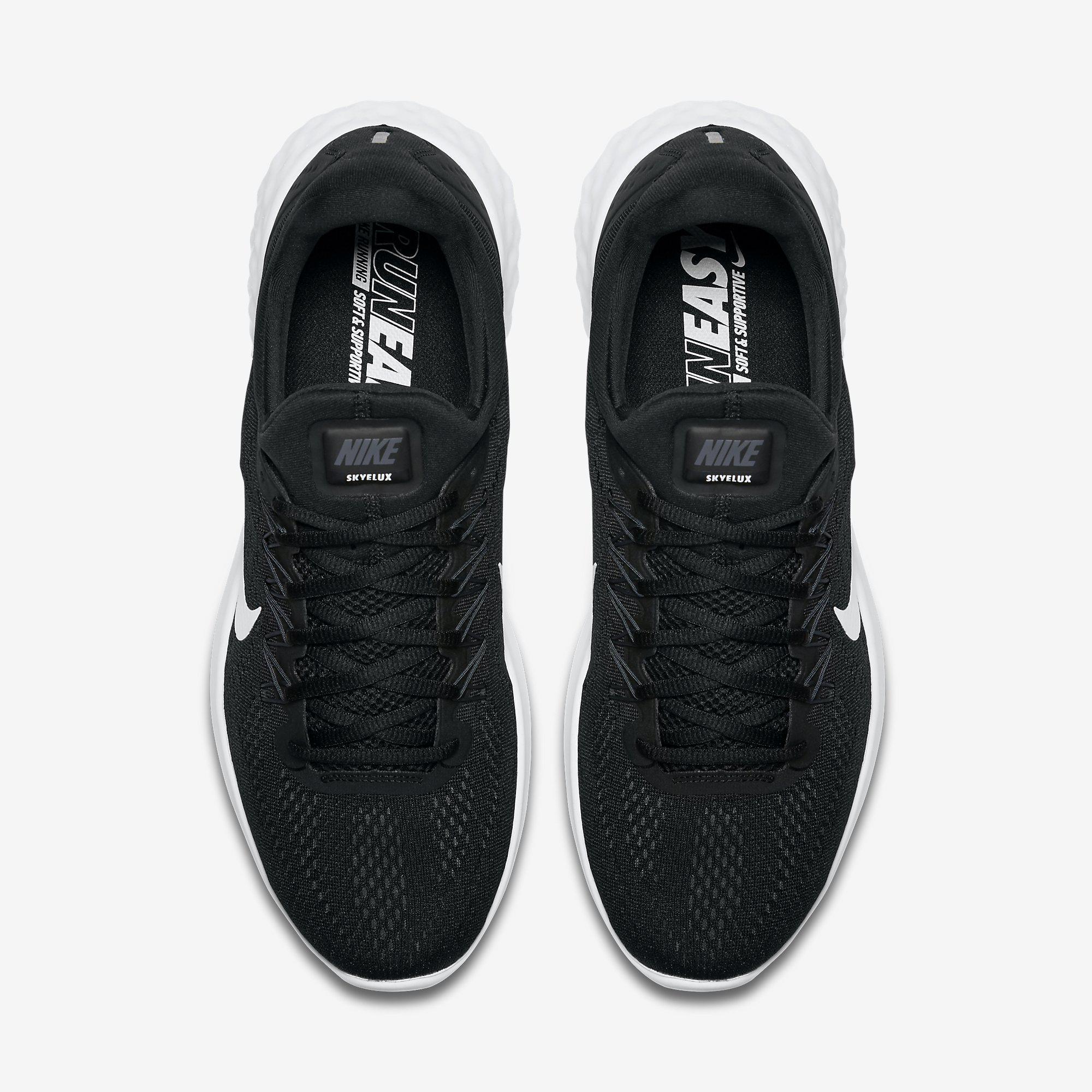 4bc5a5dd42a Nike Mens Lunar Skyelux Running Shoes - Black White - Tennisnuts.com