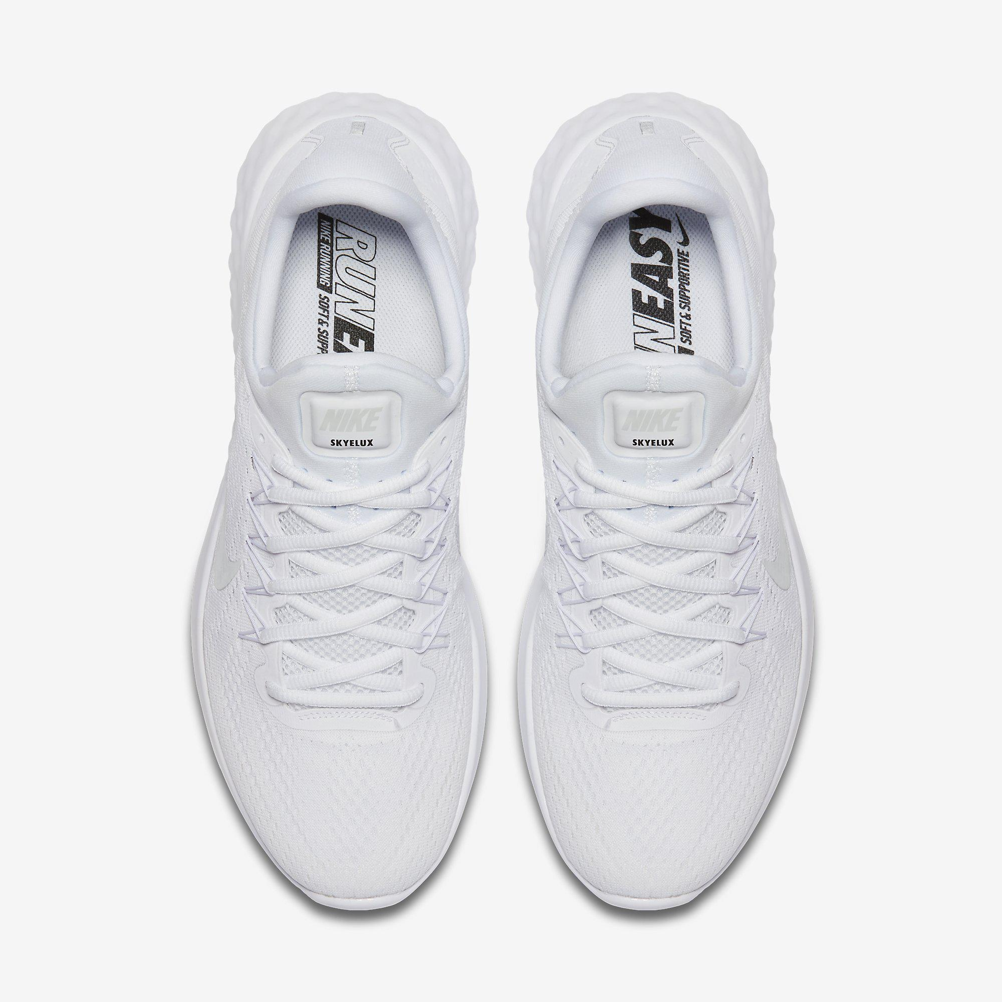 Out Of Stock. Nike Mens Lunar Skyelux Running Shoes - White ...