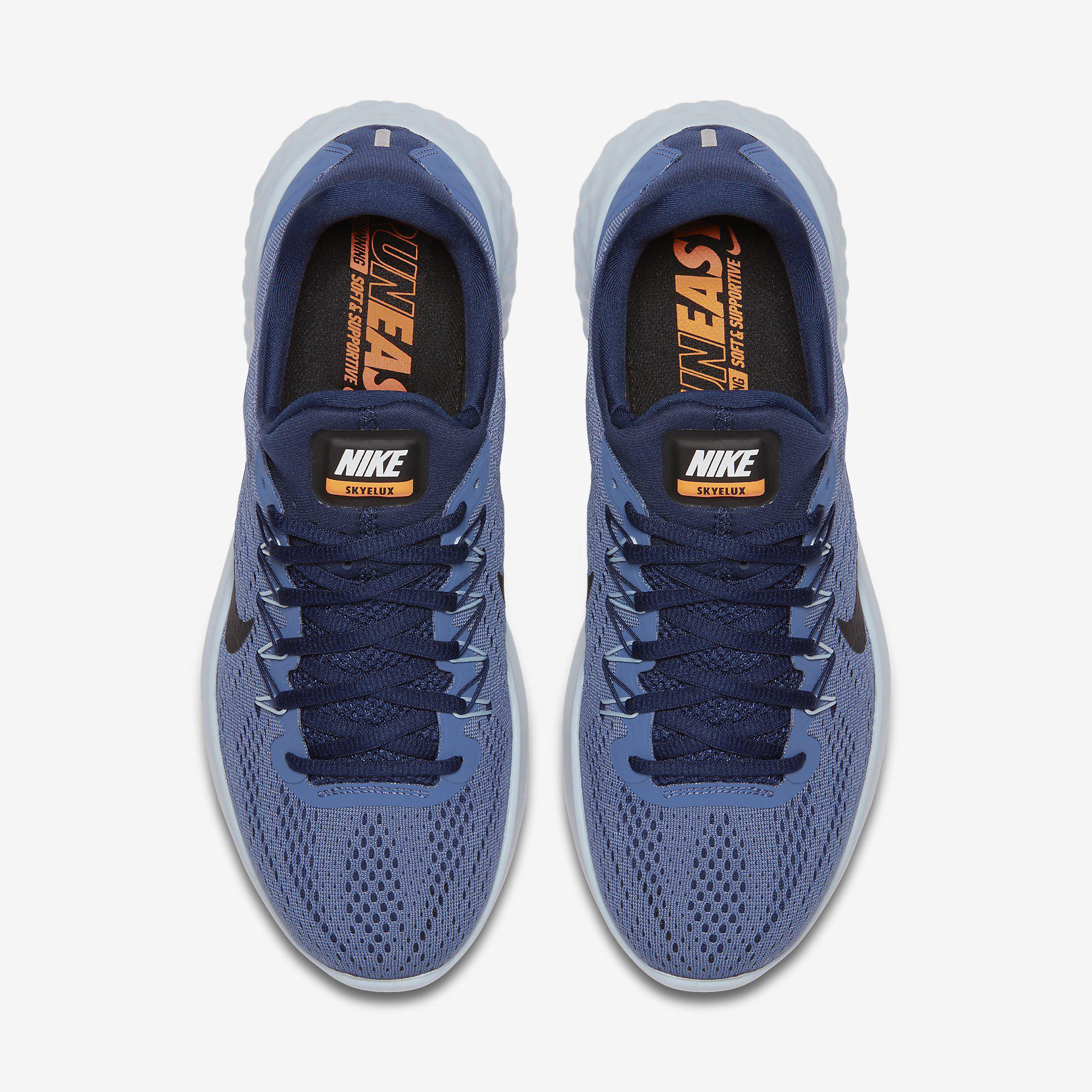 9dc9471aa922 Nike Mens Lunar Skyelux Running Shoes - Blue Moon - Tennisnuts.com
