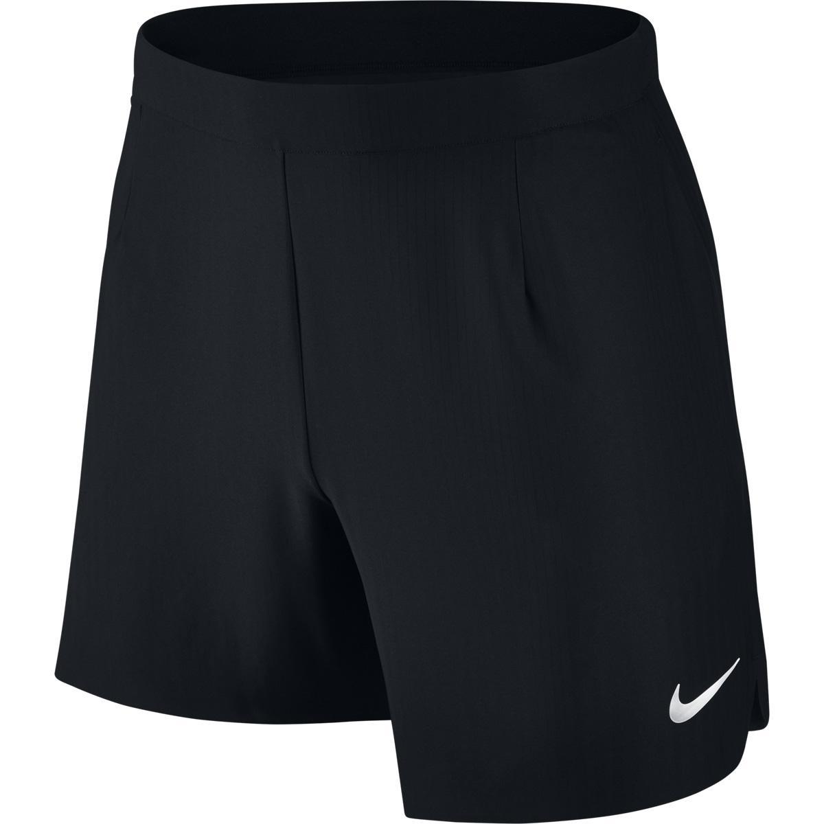nike boys flex ace 6 inch tennis shorts black. Black Bedroom Furniture Sets. Home Design Ideas