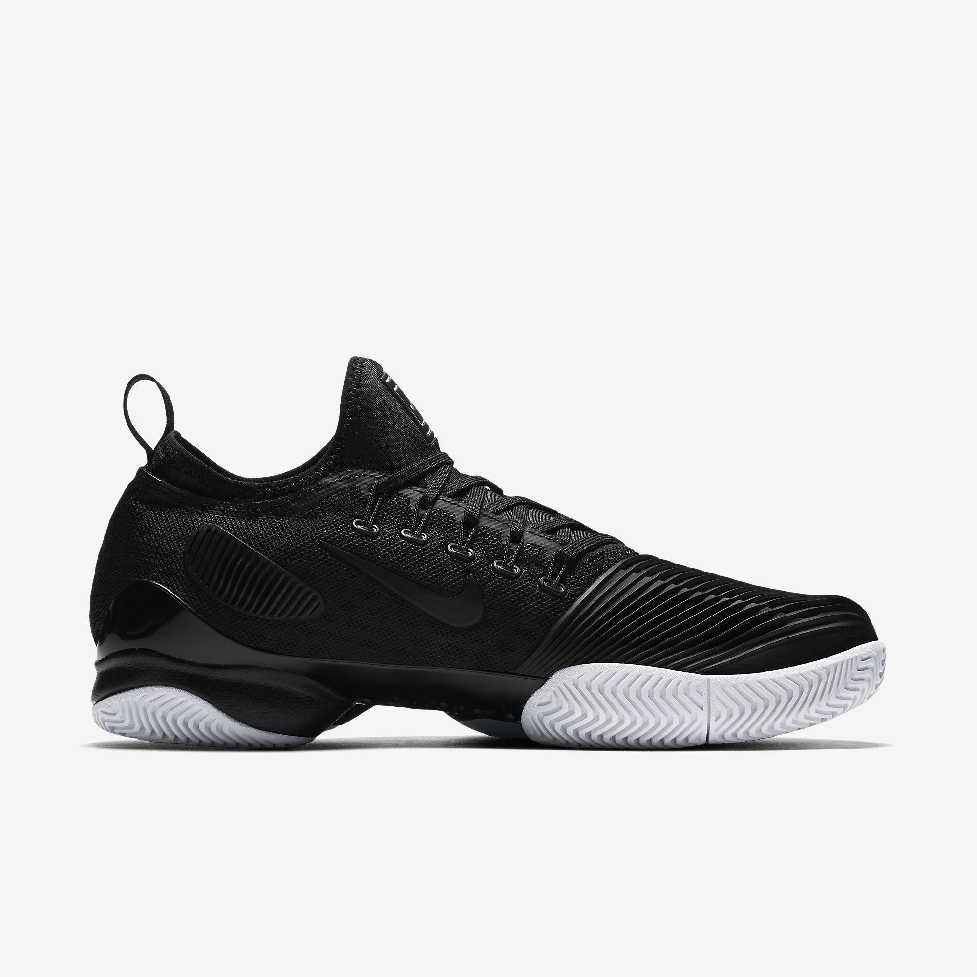 df07c7de78a1 Nike Mens Air Zoom Ultra React Tennis Shoes - Black - Tennisnuts.com