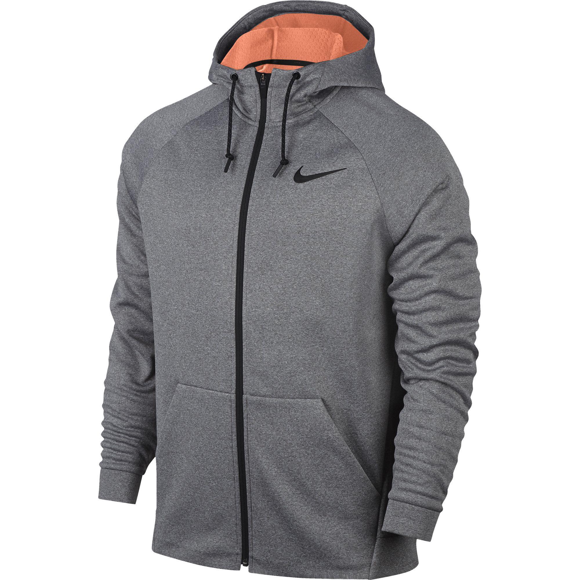 5f5b9cdafbbe Nike Mens Therma Sphere Training Jacket - Carbon Heather Hyper Crimson -  Tennisnuts.com