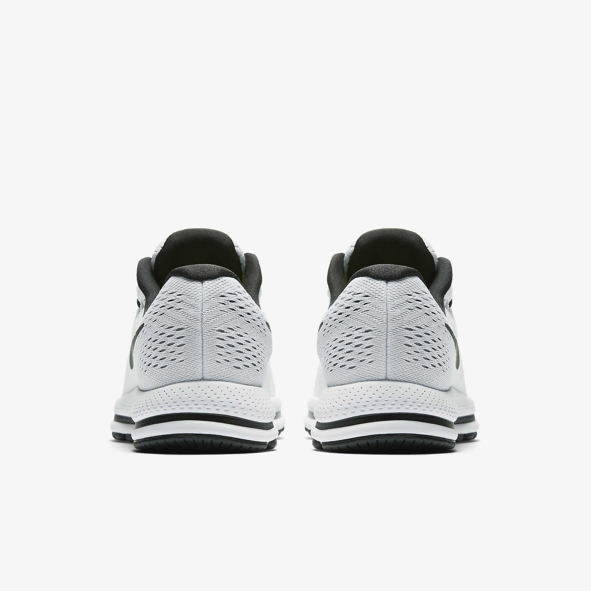 2b60abeaf137d Nike Mens Air Zoom Vomero 12 Running Shoes - White Black ...