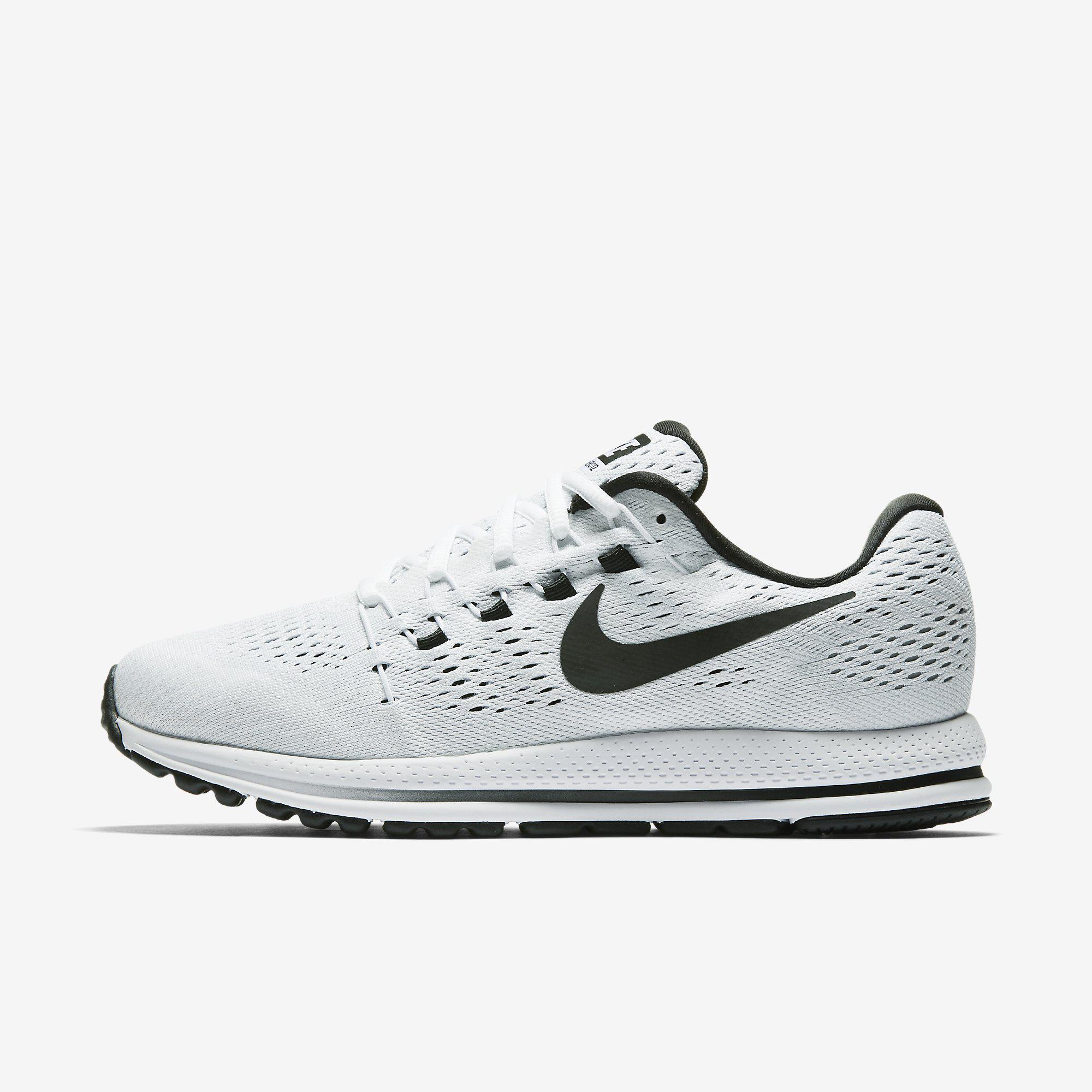 Nike Mens Air Zoom Vomero 12 Running Shoes - White/Black