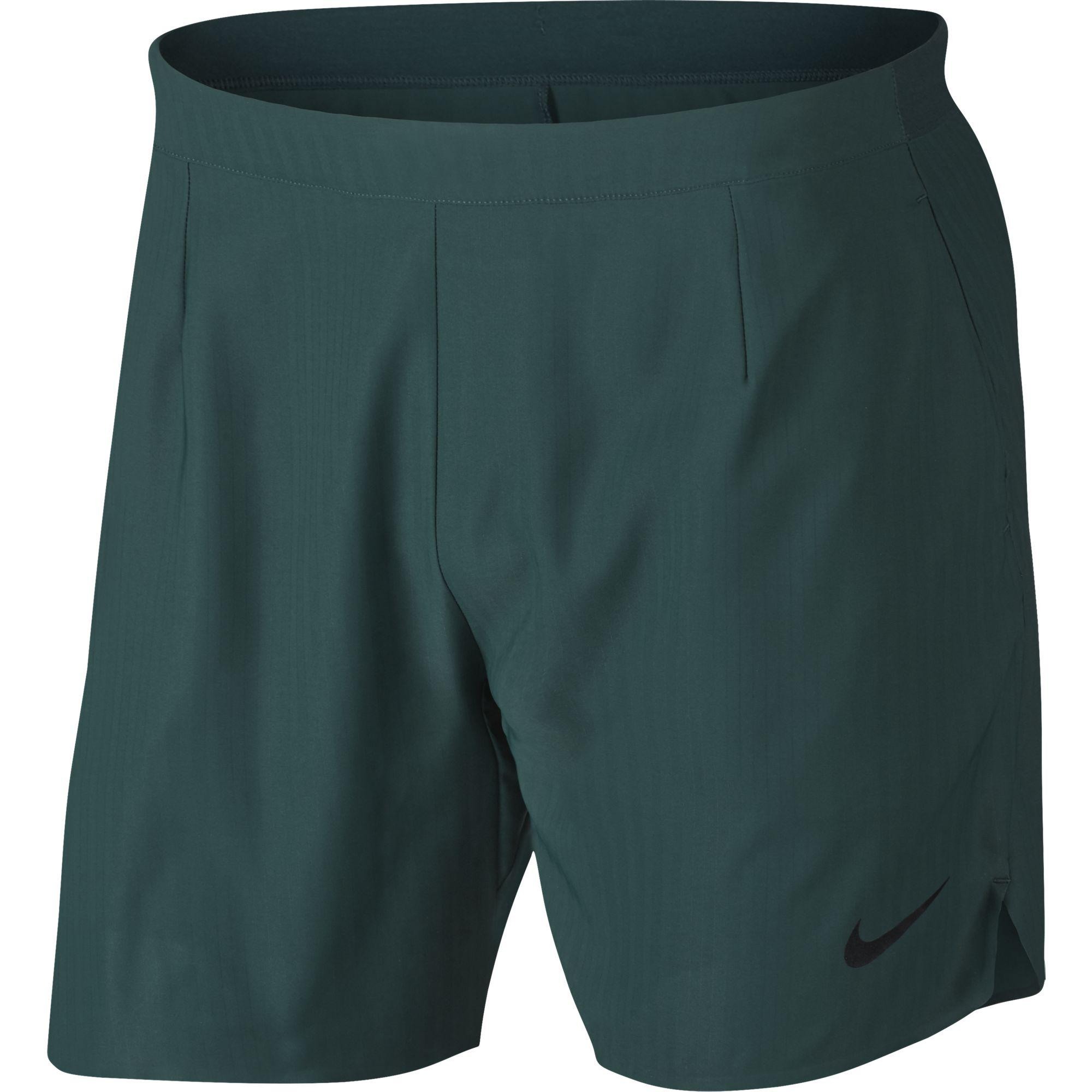 153d53213ae5 Nike Mens Flex Ace 7 Inch Shorts - Dark Green - Tennisnuts.com