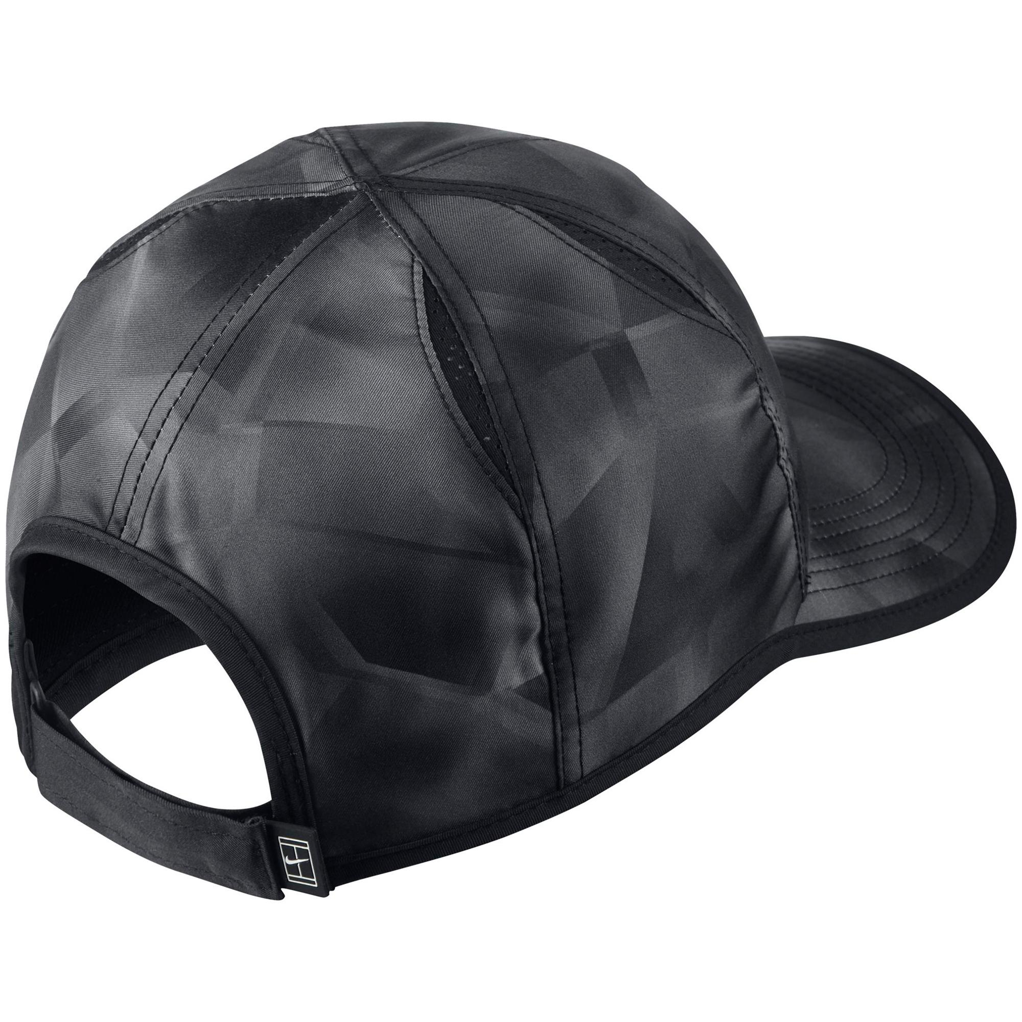 Nike Court AeroBill Tennis Cap - Black White - Tennisnuts.com f2d50569e00