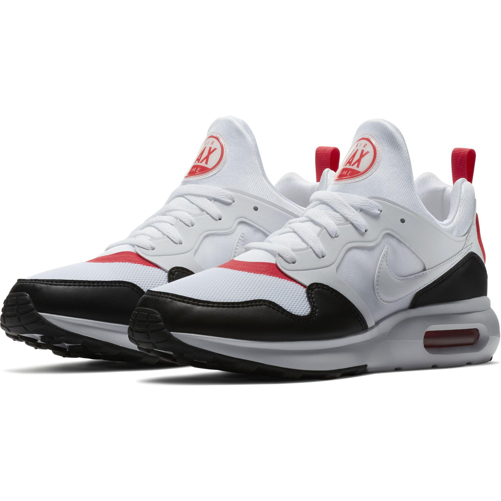 new product 2ebe6 f95d5 Nike Mens Air Max Prime Shoes - White Siren Red Black