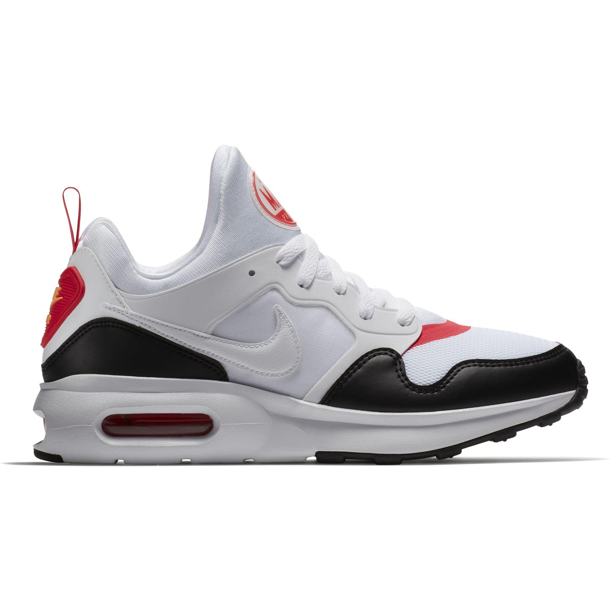finest selection c70ed 2bfd3 Nike Mens Air Max Prime Shoes - White Siren Red Black - Tennisnuts.com
