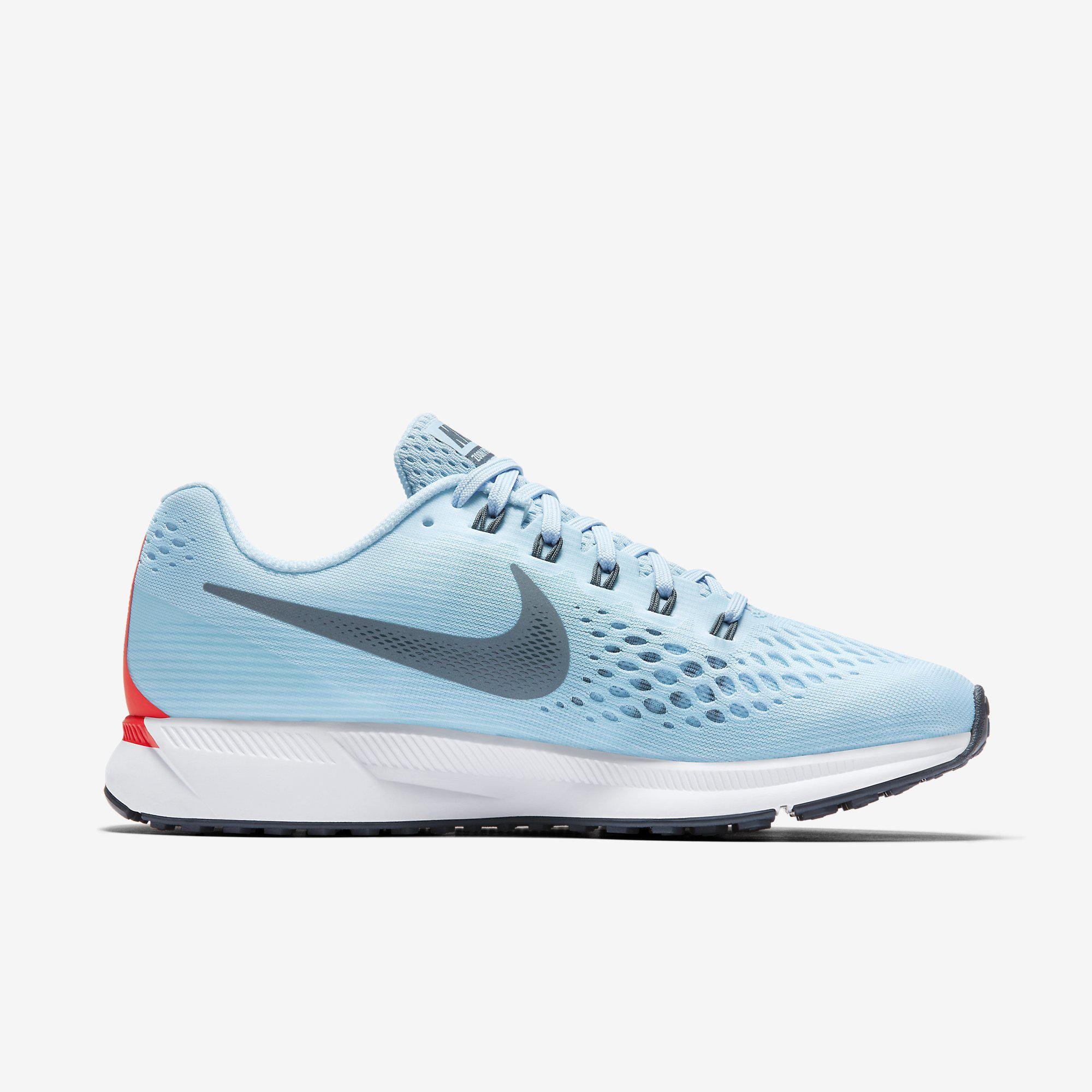 best service 8bcce 5048a Nike Mens Air Zoom Pegasus 34 Running Shoes - Ice Blue - Tennisnuts.com