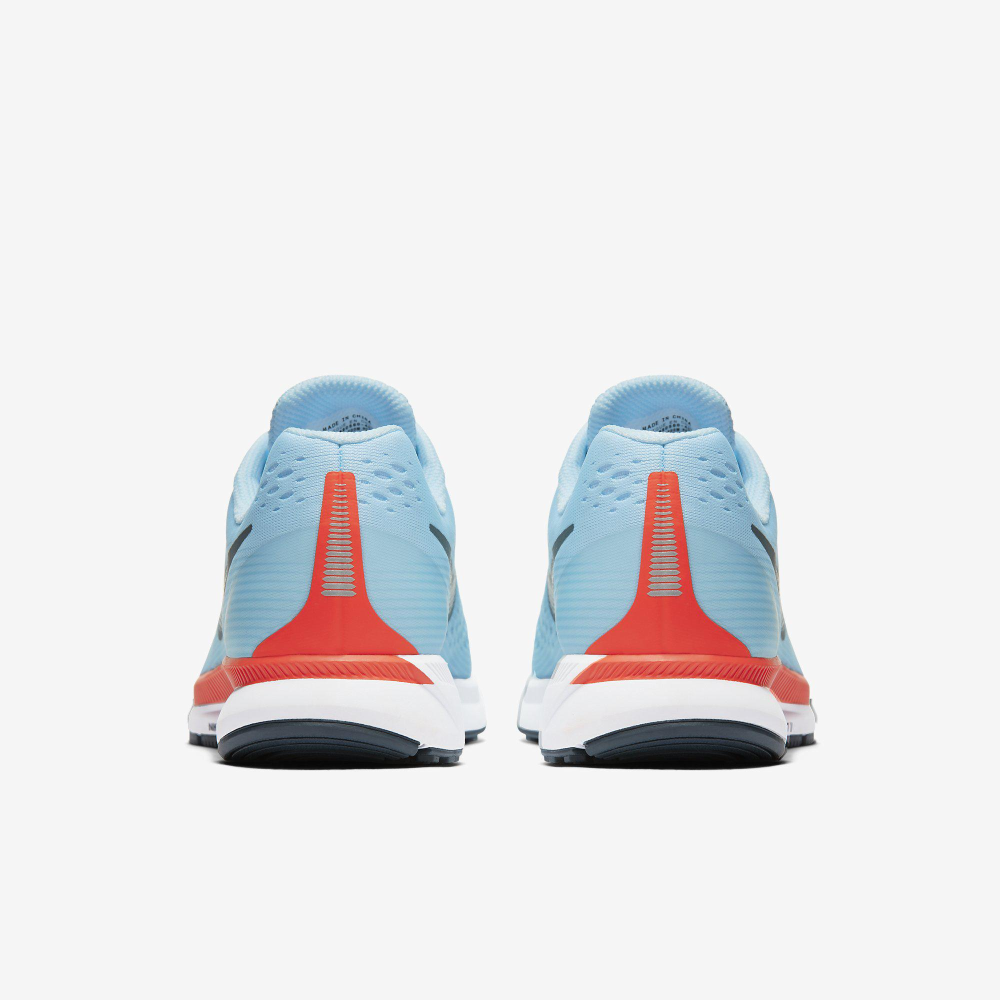 864d11b81de0 Nike Mens Air Zoom Pegasus 34 Running Shoes - Ice Blue - Tennisnuts.com
