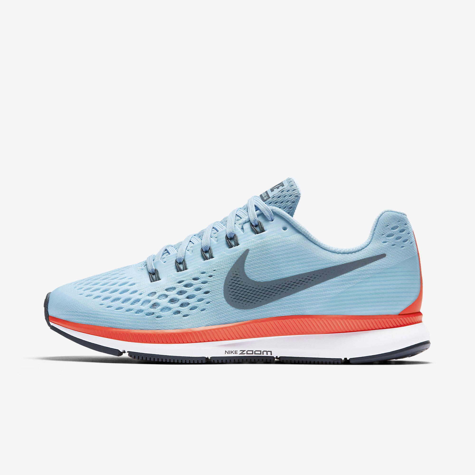 Nike Mens Air Zoom Pegasus 34 Running Shoes Ice Blue