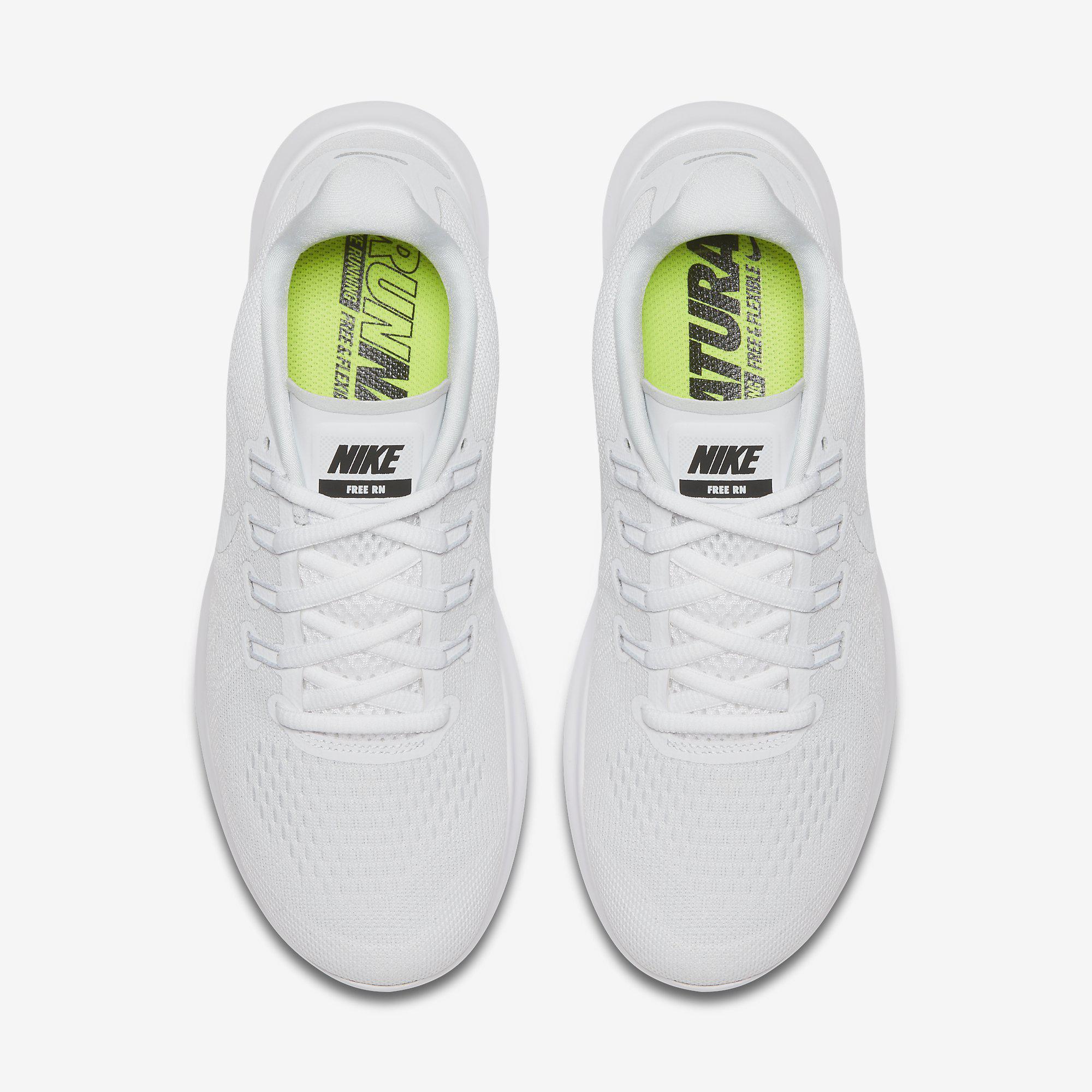 267feeb79187 Nike Womens Free RN 2017 Running Shoes - White - Tennisnuts.com