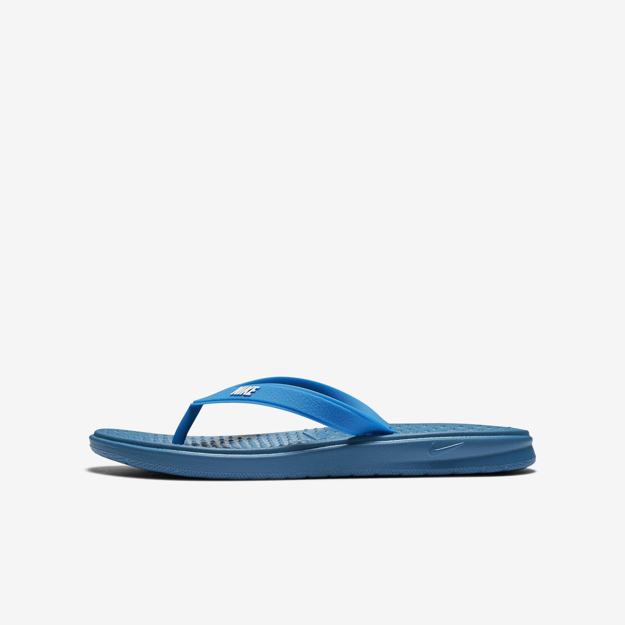 4193fce8bc85 Nike Boys Solay Thong (Flip Flops) - Industrial Blue - Tennisnuts.com
