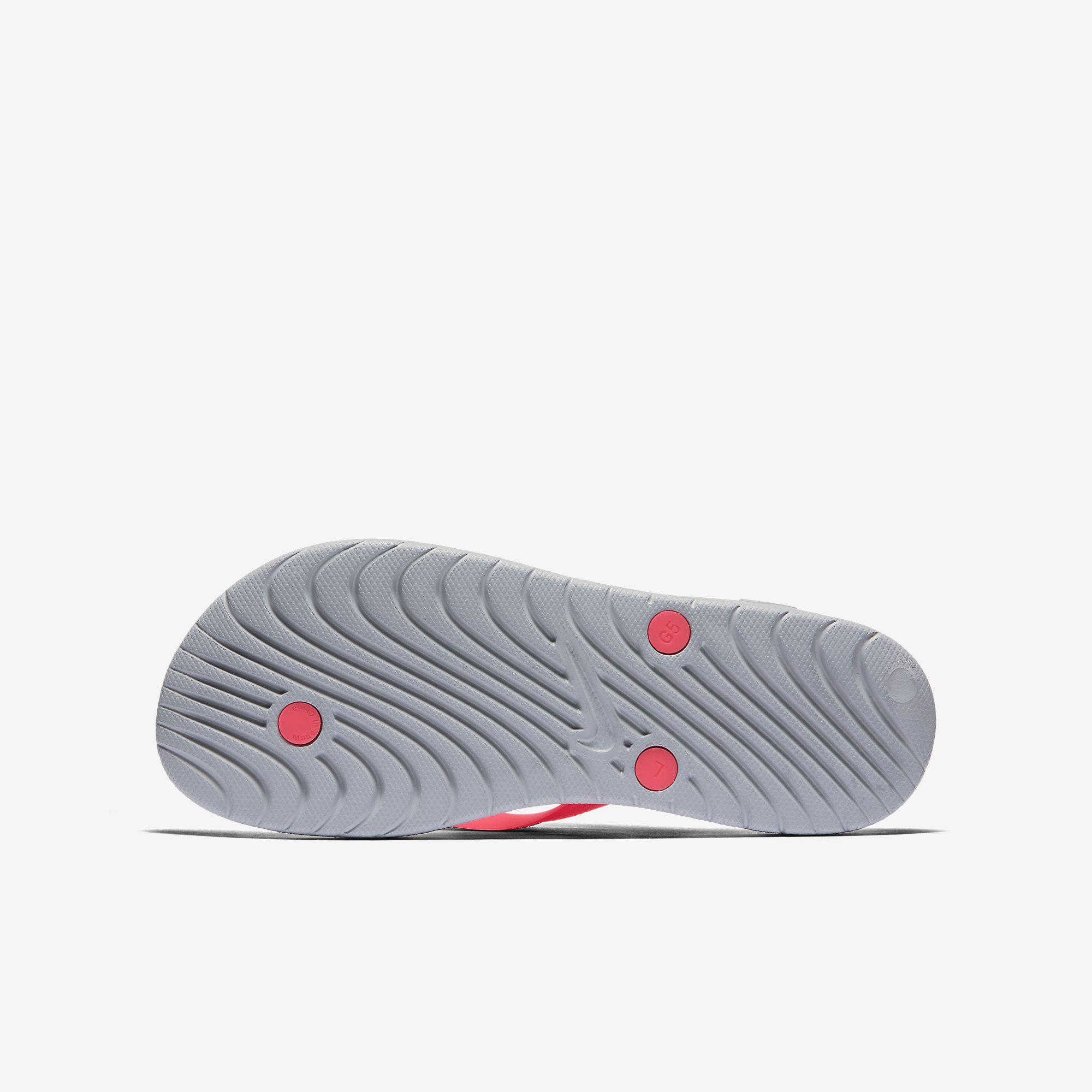 ff7e486cb40b Nike Girls Solay Thong (Flip Flops) - Wolf Grey Racer Pink ...