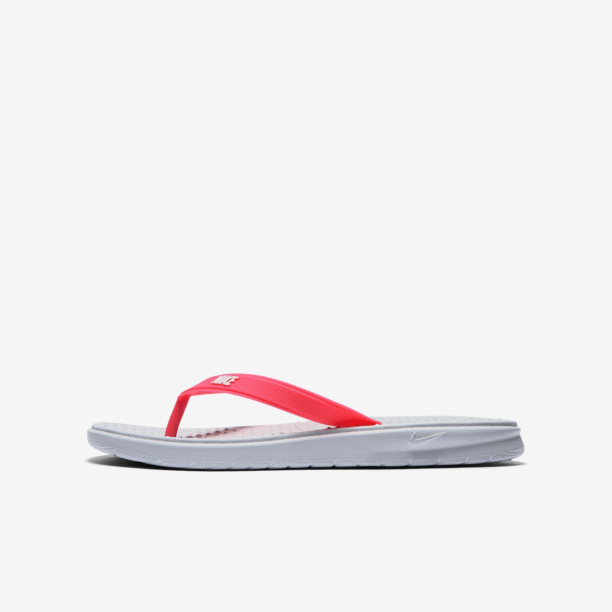 64fe91102 Nike Girls Solay Thong (Flip Flops) - Wolf Grey Racer Pink - Tennisnuts.com