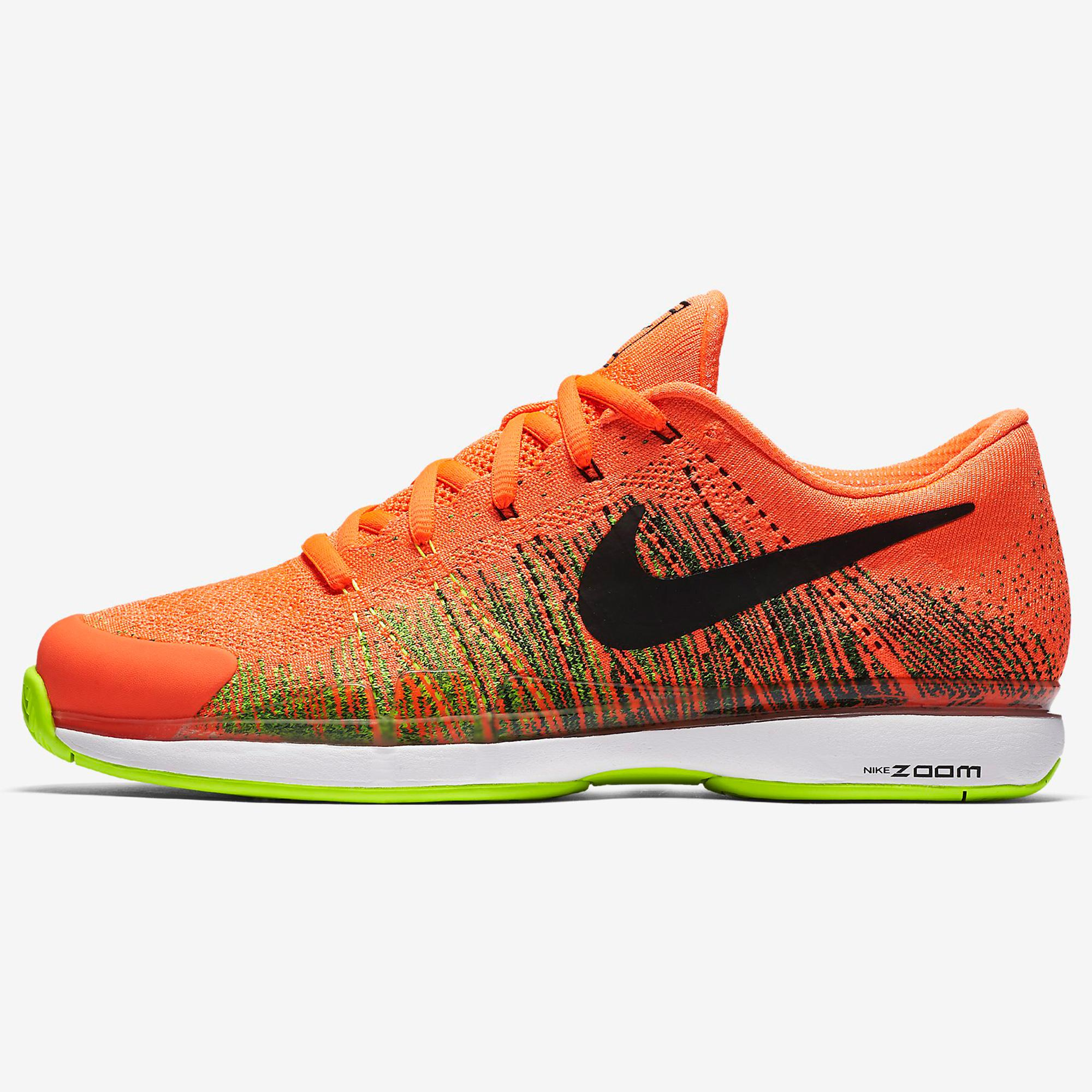 824ba528c3e0d Nike Mens Zoom Vapor 9.5 Flyknit Tennis Shoes - Hyper Orange -  Tennisnuts.com