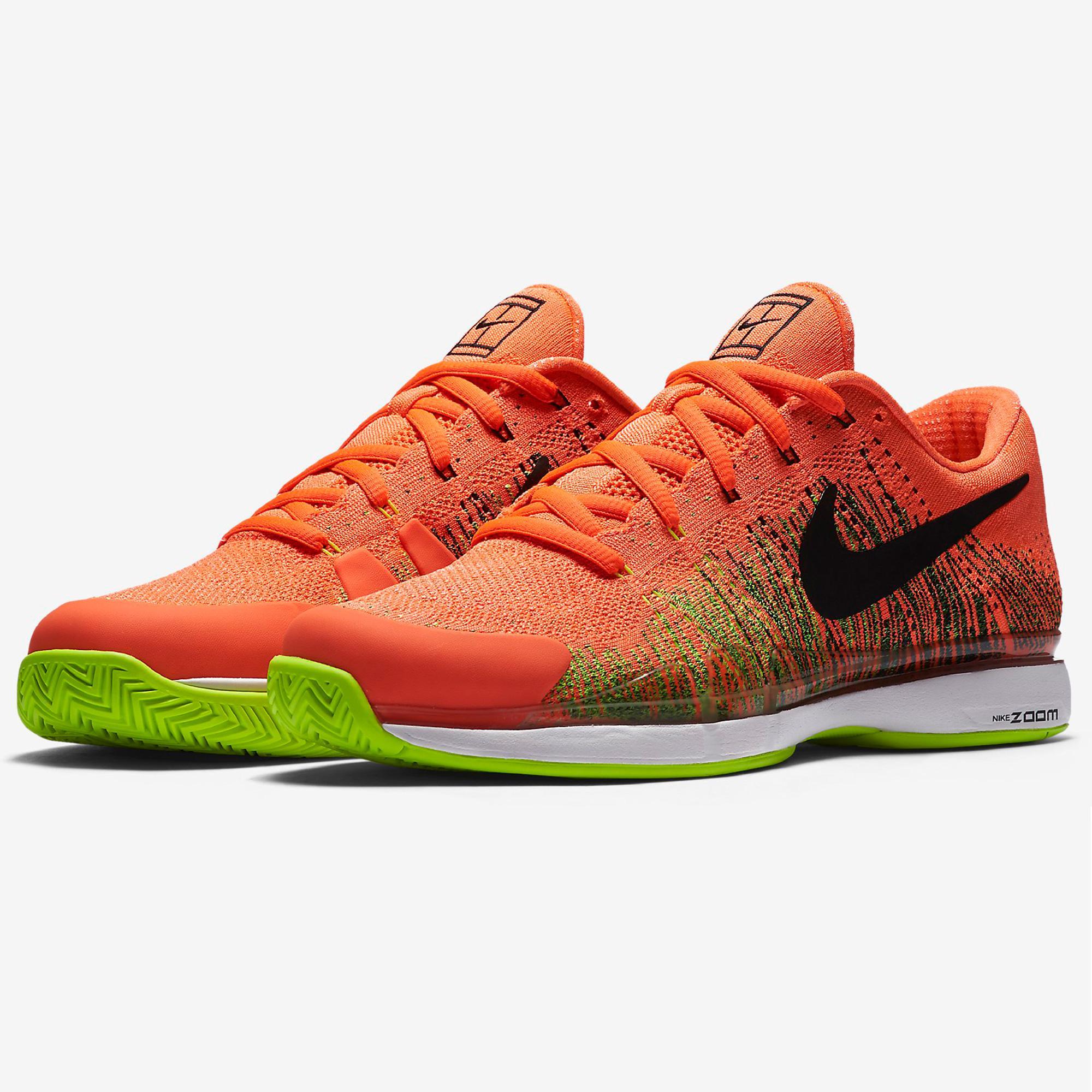 huge discount c5a85 a9a92 Nike Mens Zoom Vapor 9.5 Flyknit Tennis Shoes - Hyper Orange