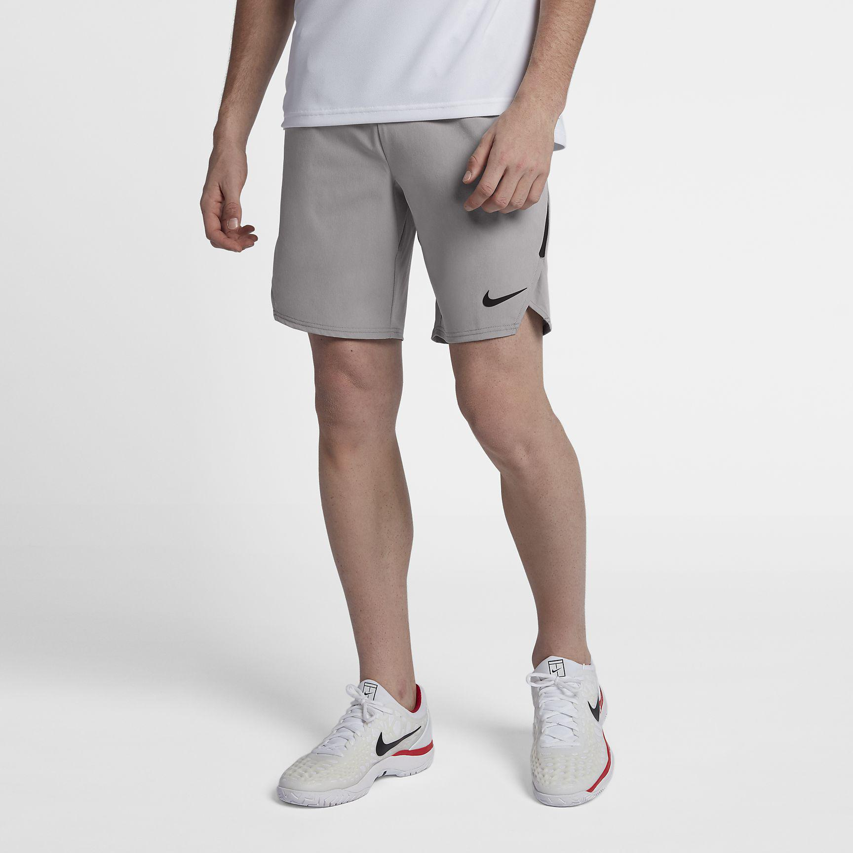 competitive price 84988 697e3 Nike Mens Flex Ace 9 Inch Shorts - Atmosphere Grey Black