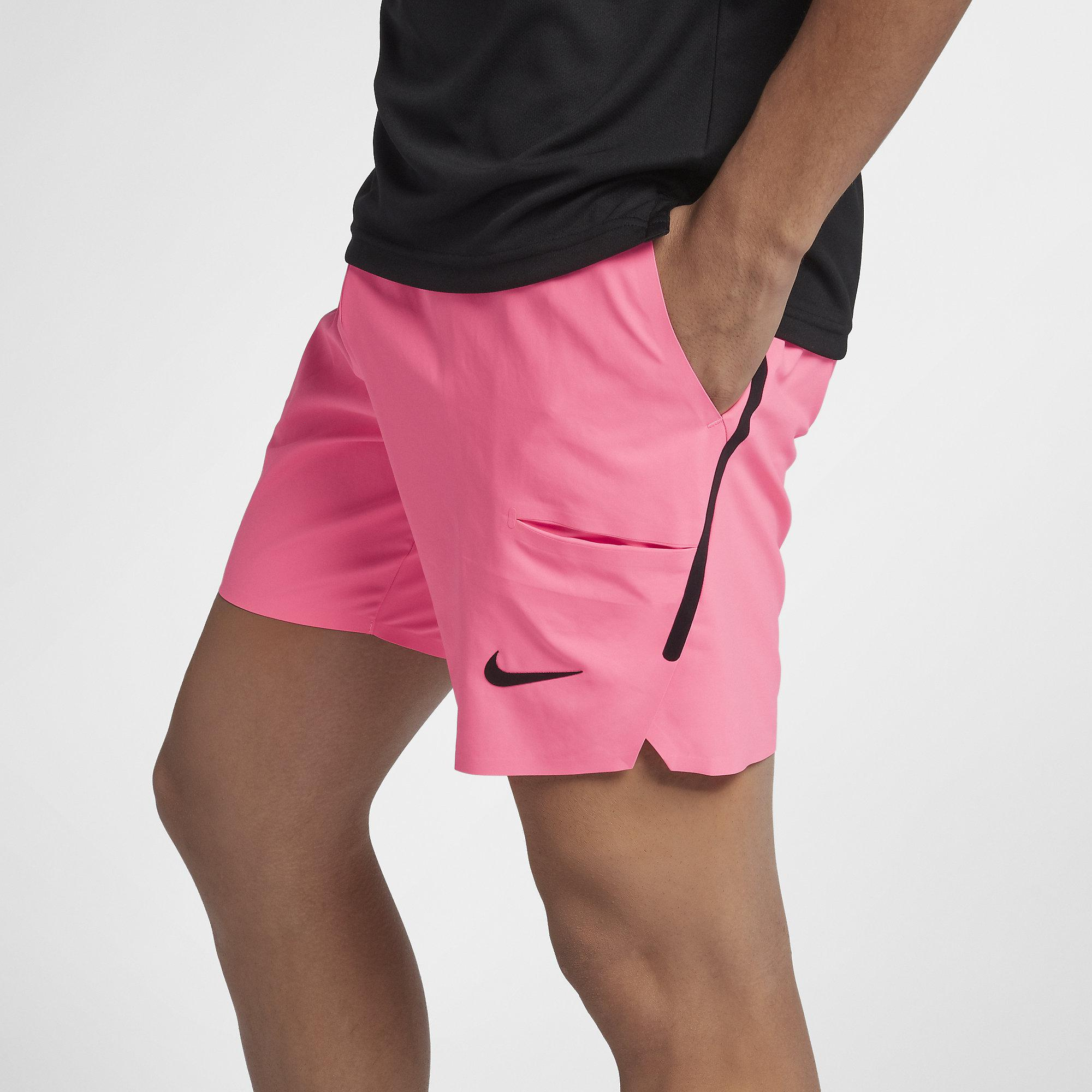 Nike Mens Court Flex Ace 7 Inch Shorts - Sunset Pulse ...