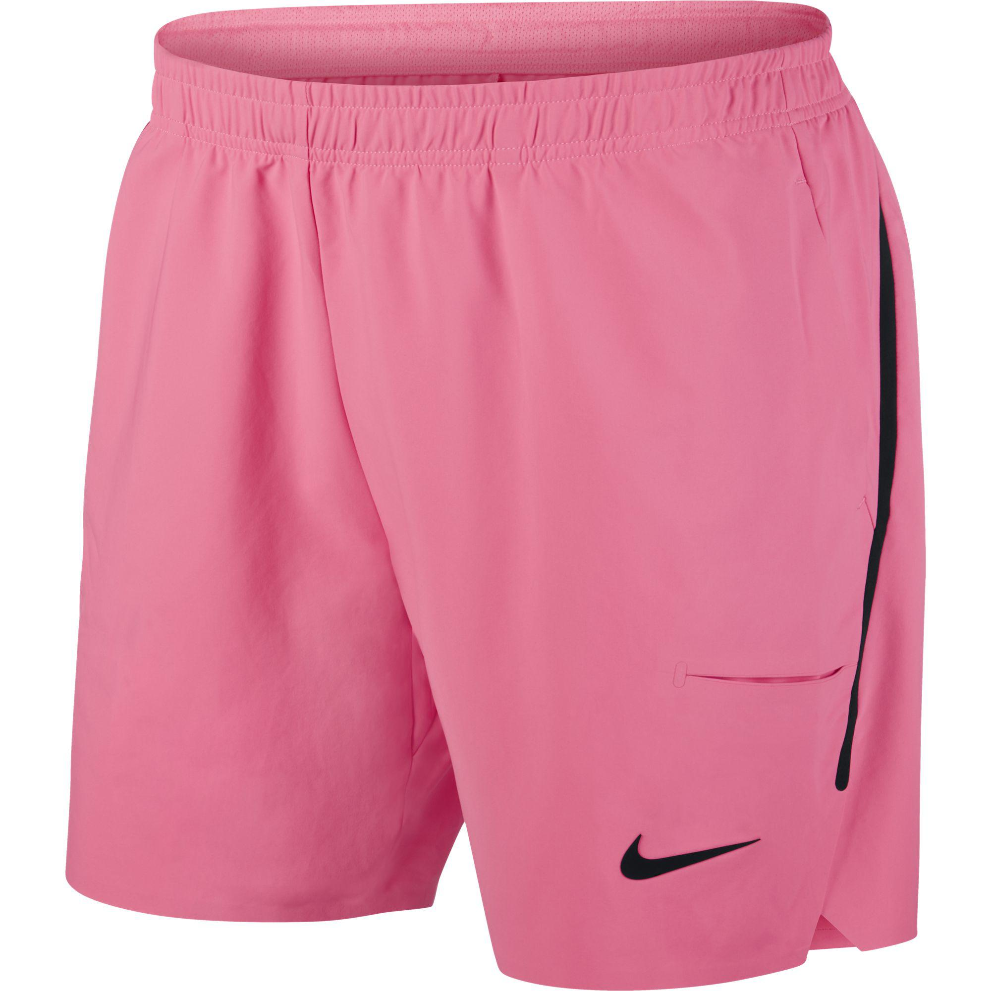 ee66c6a69c2a Nike Mens Court Flex Ace 7 Inch Shorts - Sunset Pulse Black - Tennisnuts.com
