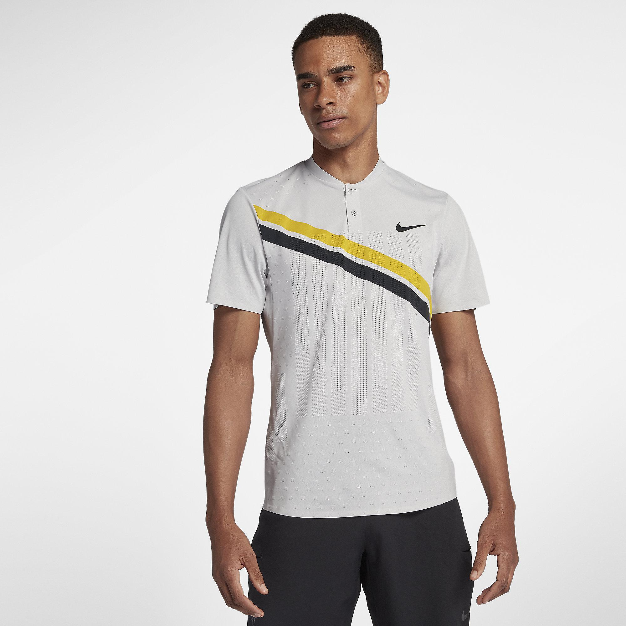 0332787b1 Nike Mens Zonal Cooling RF Advantage Top - Vast Grey/Bright Citron -  Tennisnuts.com