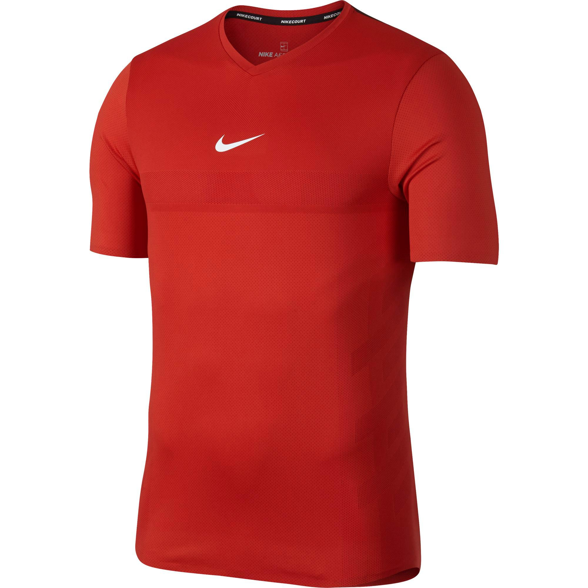 Nike Mens AeroReact Rafa Top - Habanero