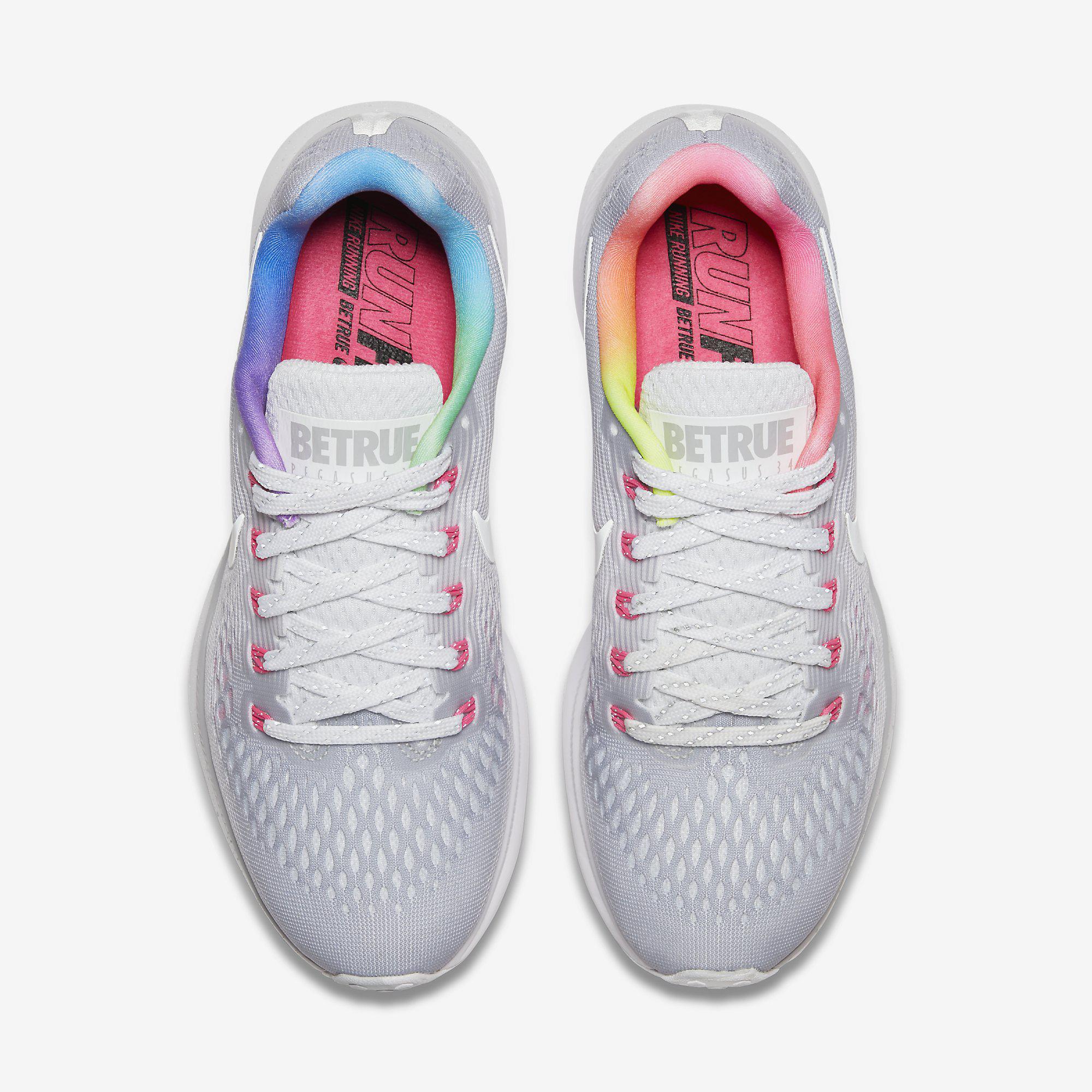 912b0ab49f529e Nike Womens Air Zoom Pegasus 34 Betrue Running Shoes - Wolf Grey ...