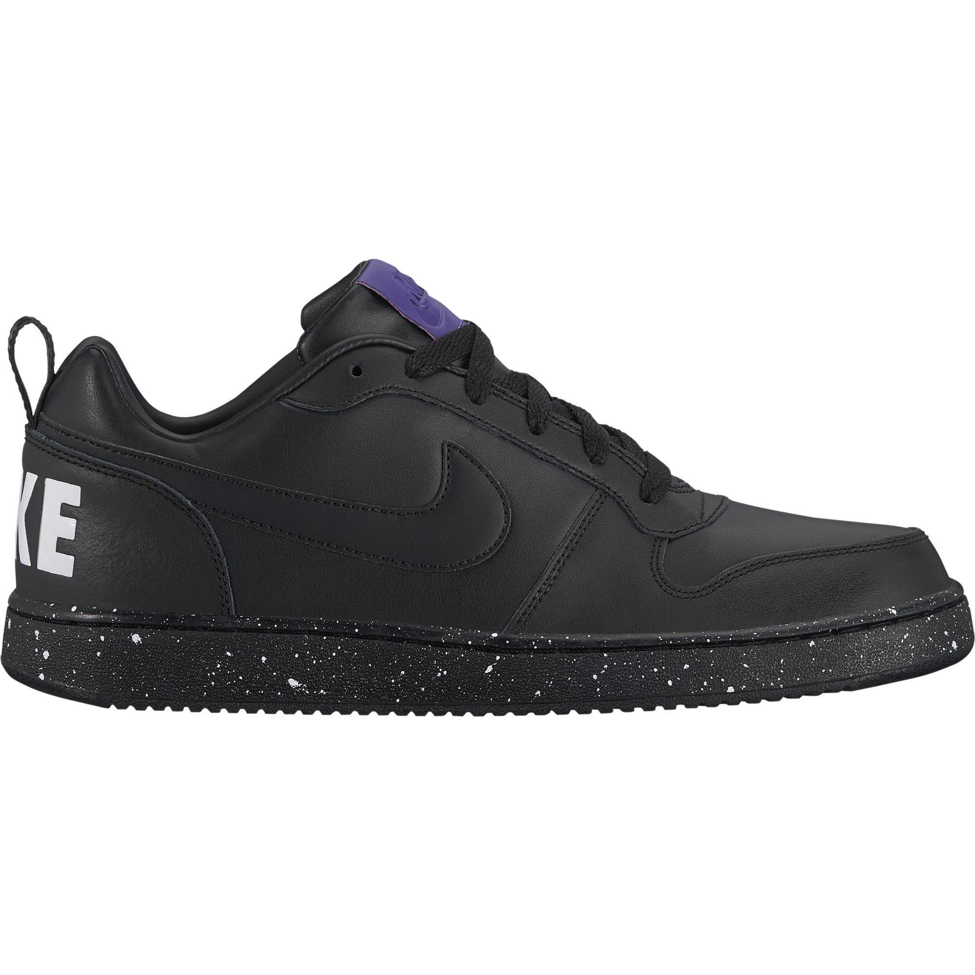 ca099df798 Nike Mens Court Borough Shoes - Black White - Tennisnuts.com