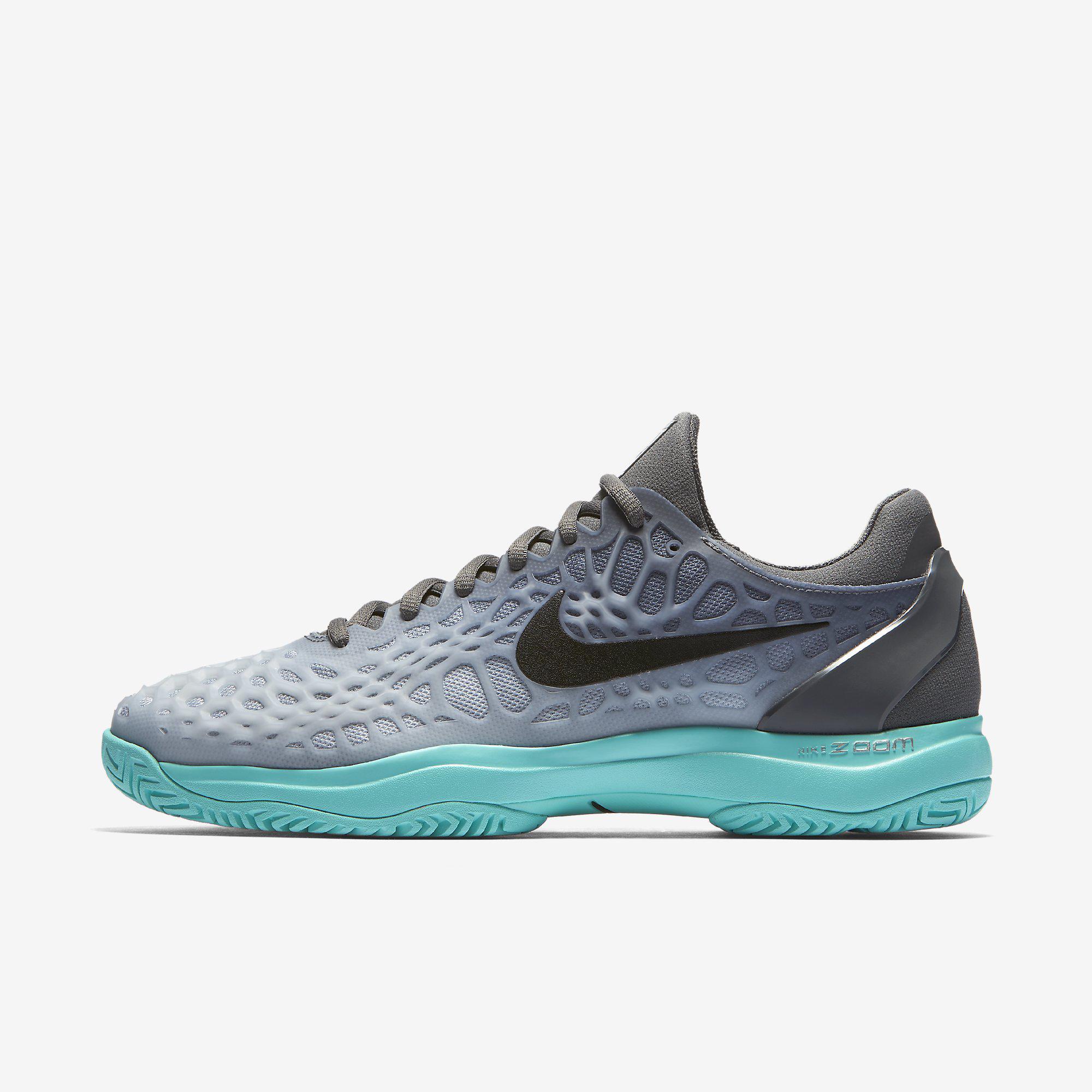 a668966526e Nike Mens Zoom Cage 3 Tennis Shoes - Wolf Grey Aurora - Tennisnuts.com